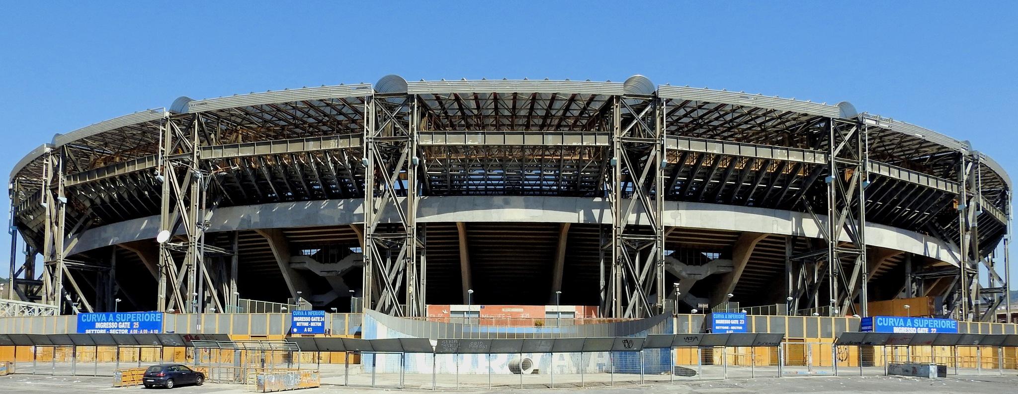 Napoli  - San Paolo Stadium The Naples Foot-Ball Club's Temple by Arnaldo De Lisio