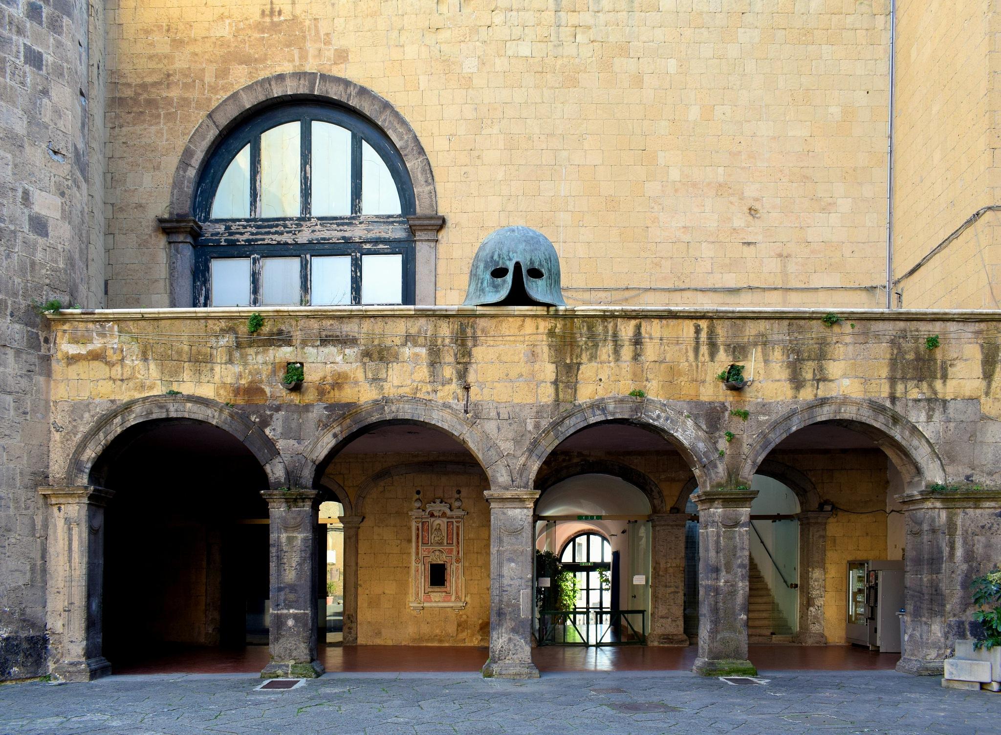 Photo in Architecture #arnaldo de lisio #aragonese #angioino #castello #castello medievale #architettura #castle #medieval castle #naples #napoli #maschio angioino #medieval helms #helms #helmet #elmo #elmo medievale