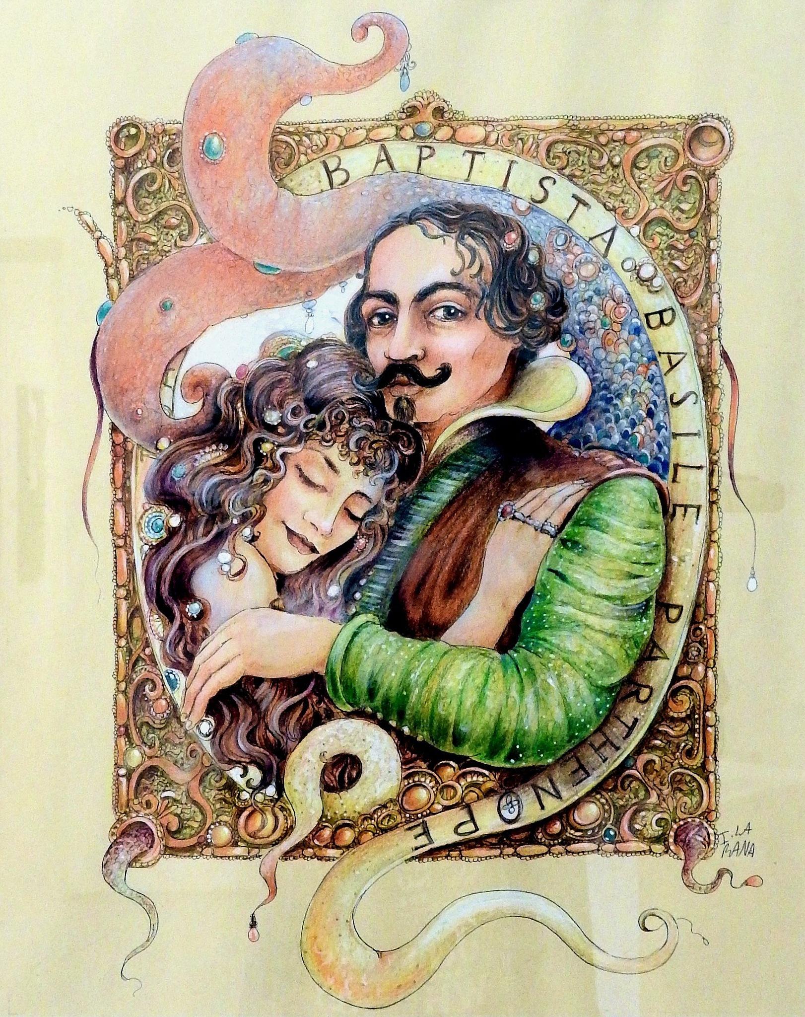 Ida La Rana - G.B. Basile e Partenope - P.A.N. Napoli - Napoli Expo' Art Polis  by Arnaldo De Lisio