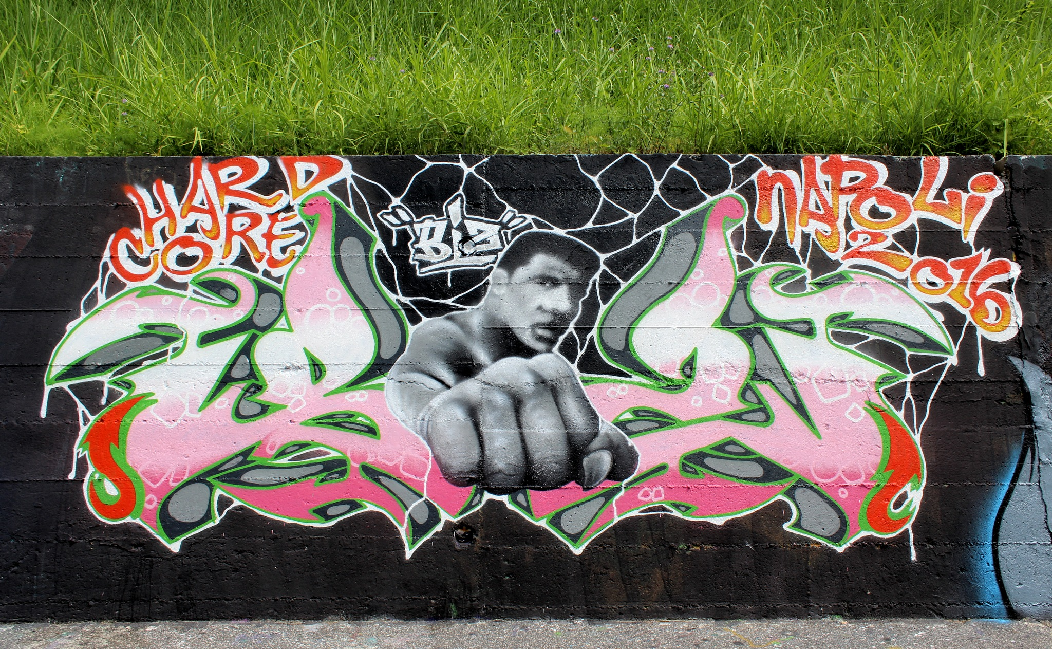 Naples - Street Art - Bagnoli - Biz Hard Core - 2016 - Muhammad Alí Cassius Clay - 1b by Arnaldo De Lisio