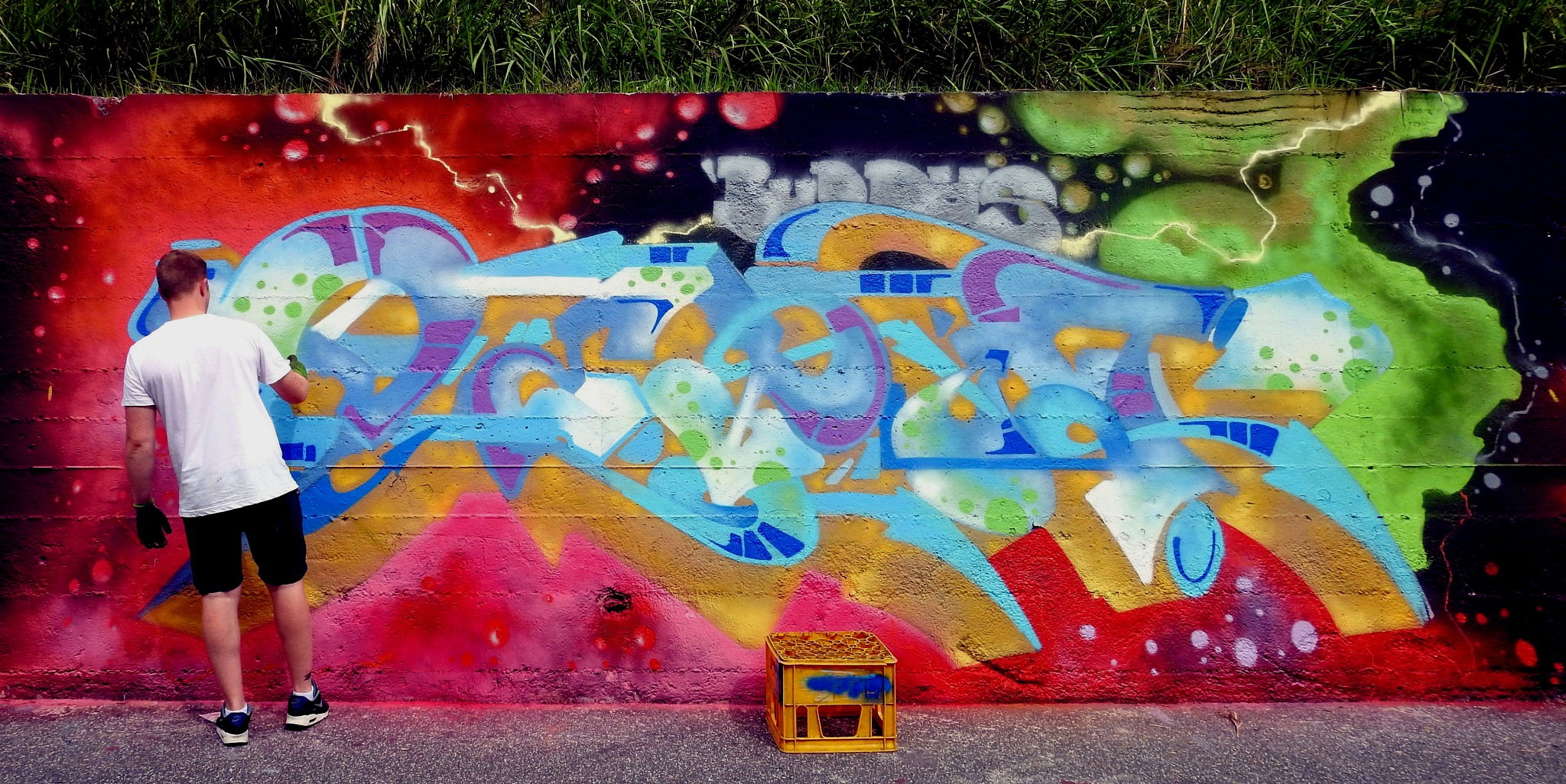 Naples Bagnoli - Street artist In Action! - Back To The Style - 2016 - 1 by Arnaldo De Lisio
