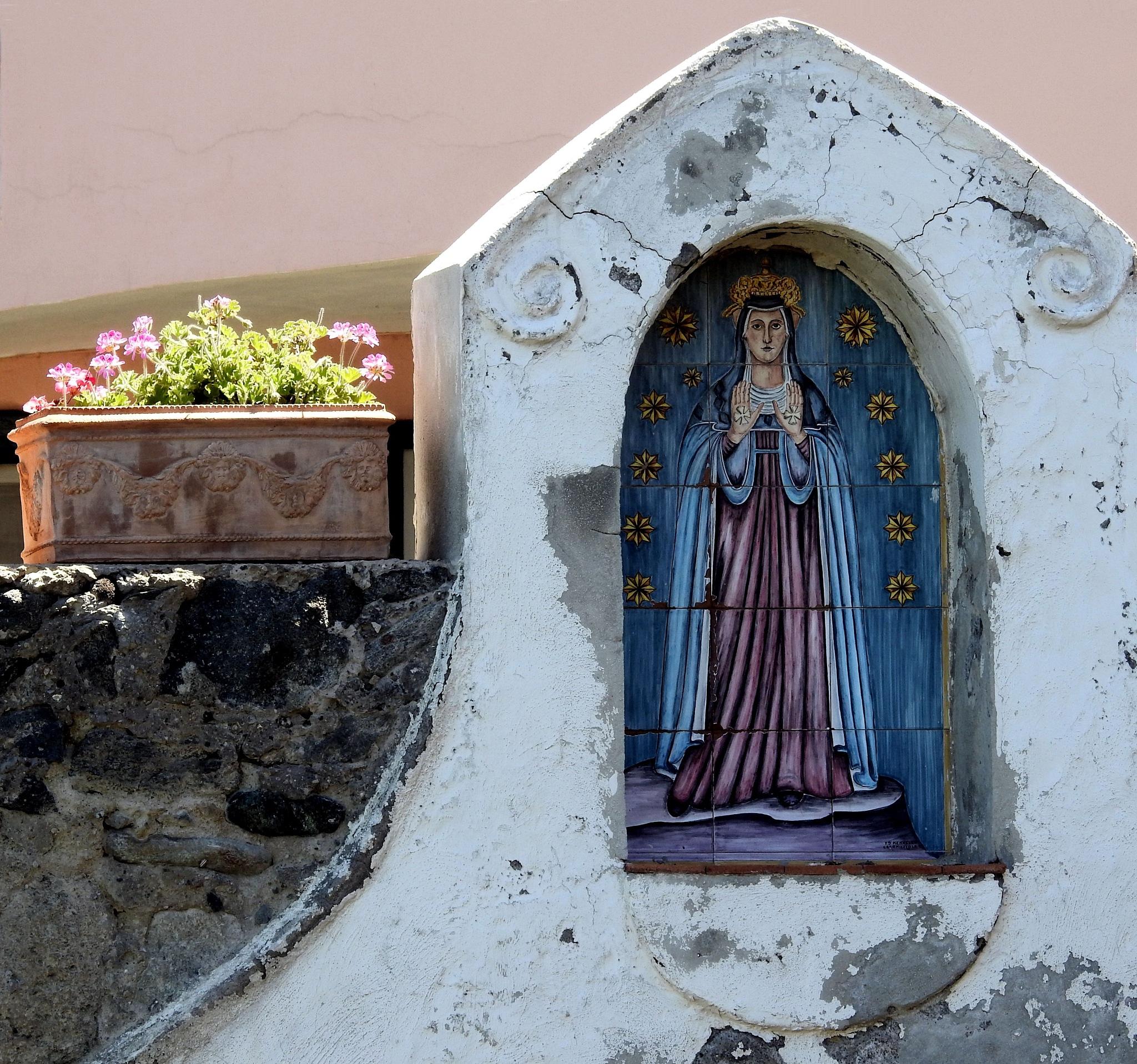 Island Of Ischia [Campania - Italy - Naples] - Madonna And The Flowers by Arnaldo De Lisio