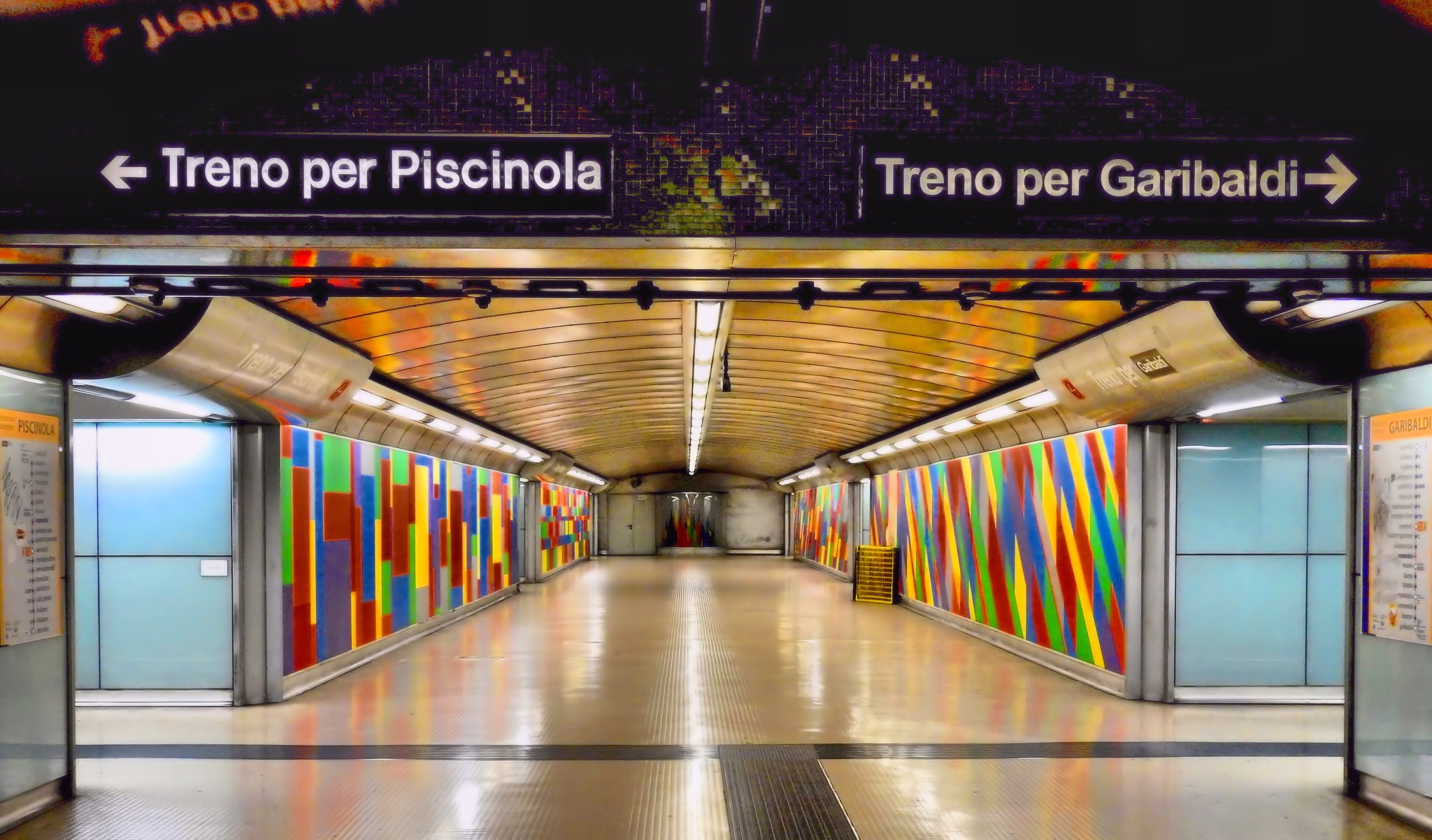 Naples - In HDR... Naples - Tubeway Station of Linea 1 by Arnaldo De Lisio