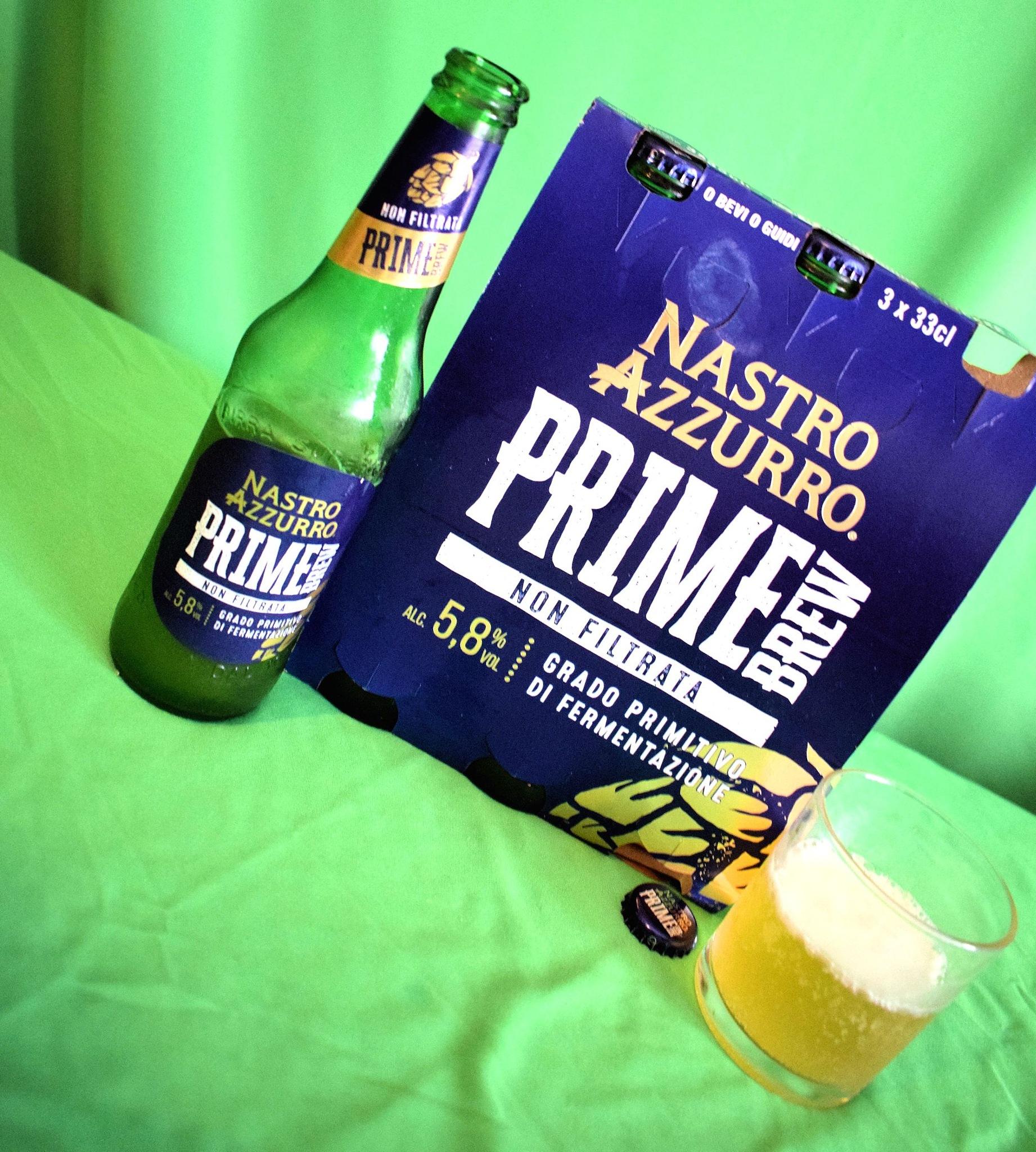 Italian Beer - Birra Peroni Nastro Azzurro Prime Brew Non Filtrata - 5,8°   by Arnaldo De Lisio