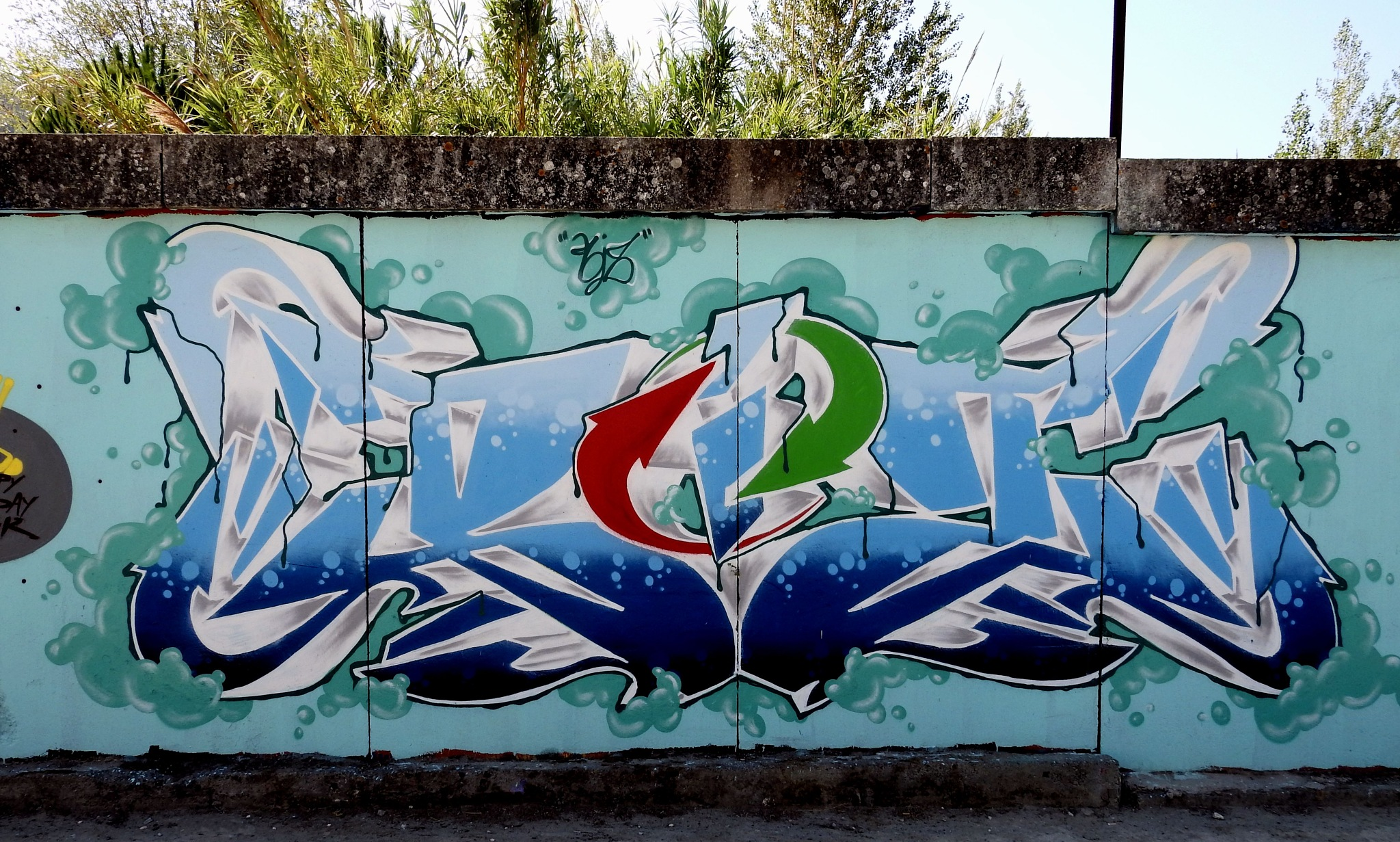 Naples - Italian Flag? No, Street Art!!! - 02  by Arnaldo De Lisio