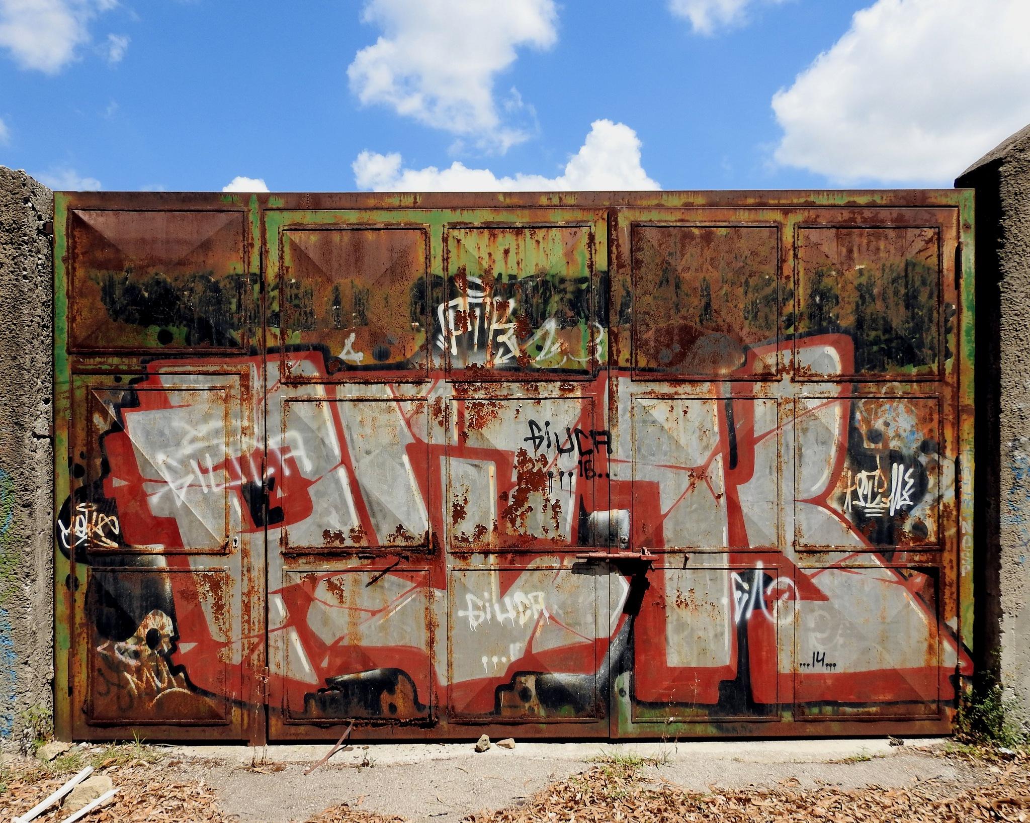 Naples - Mostra d'Oltremare - The Door of Perception... Rusted Door! - 1 by Arnaldo De Lisio