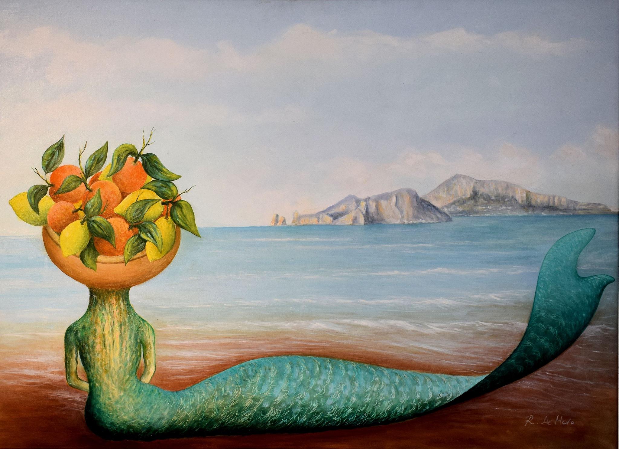 P.A.N. Napoli - Raffaele De Maio - The Mermaid of Campi Flegrei - Napoli Expò Art POLIS  by Arnaldo De Lisio