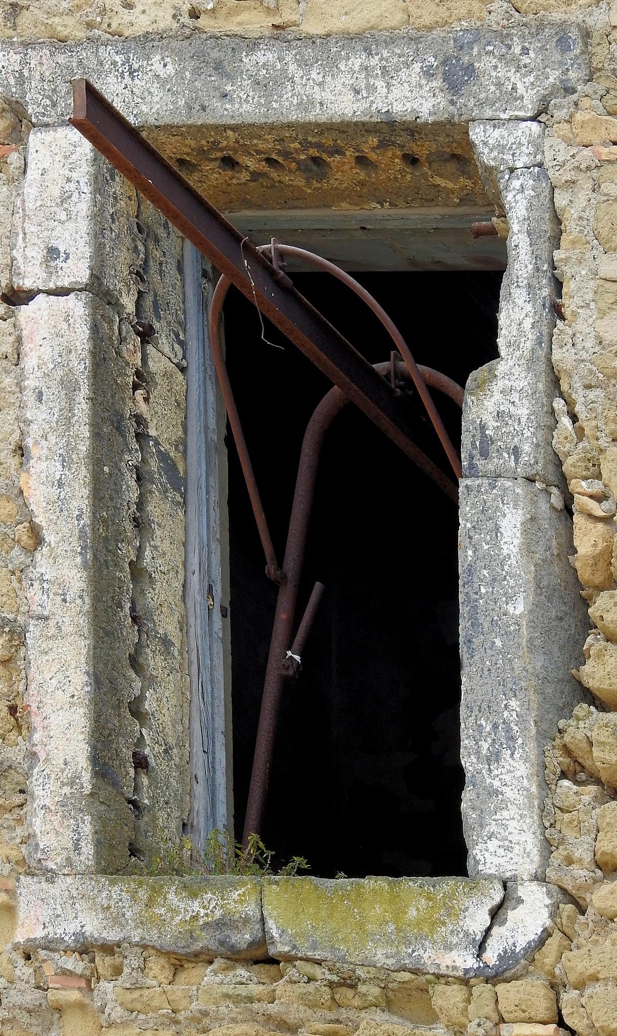 Photo in Architecture #terra murata #window #finestra #ferro arrugginito #rusted #italy #naples #procida #decay #rovine #ruin #island #isola #napoli #italia #arnaldo de lisio