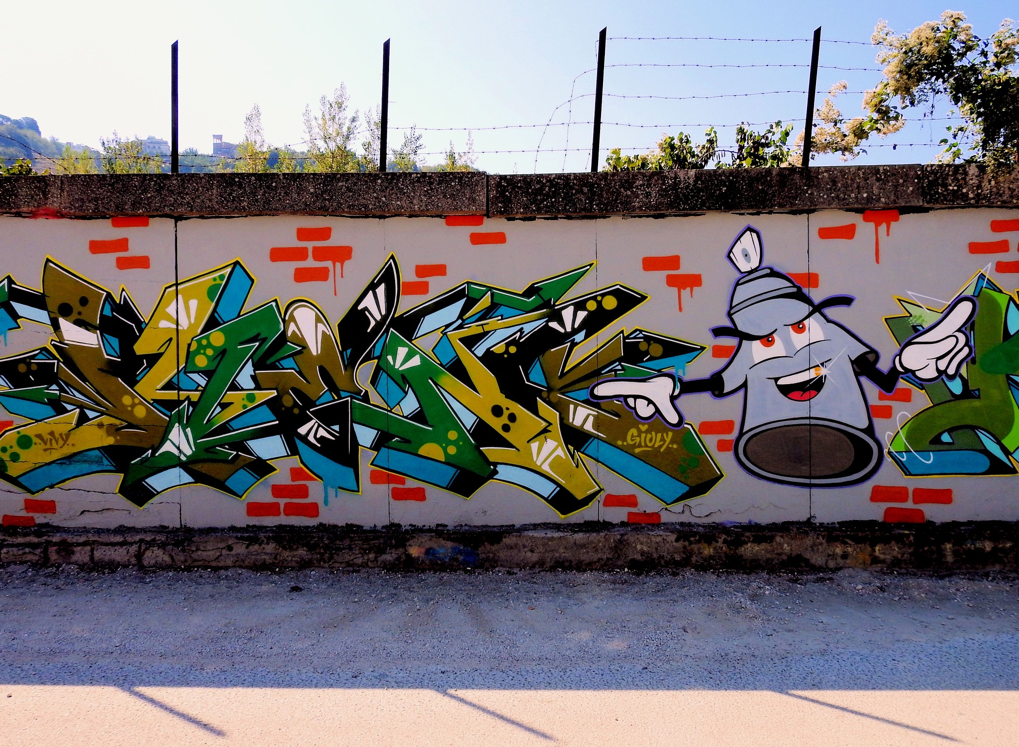 Naples via Cupa del Poligono - The Grey Boy! - 2 - The Long And Painting Road by Arnaldo De Lisio
