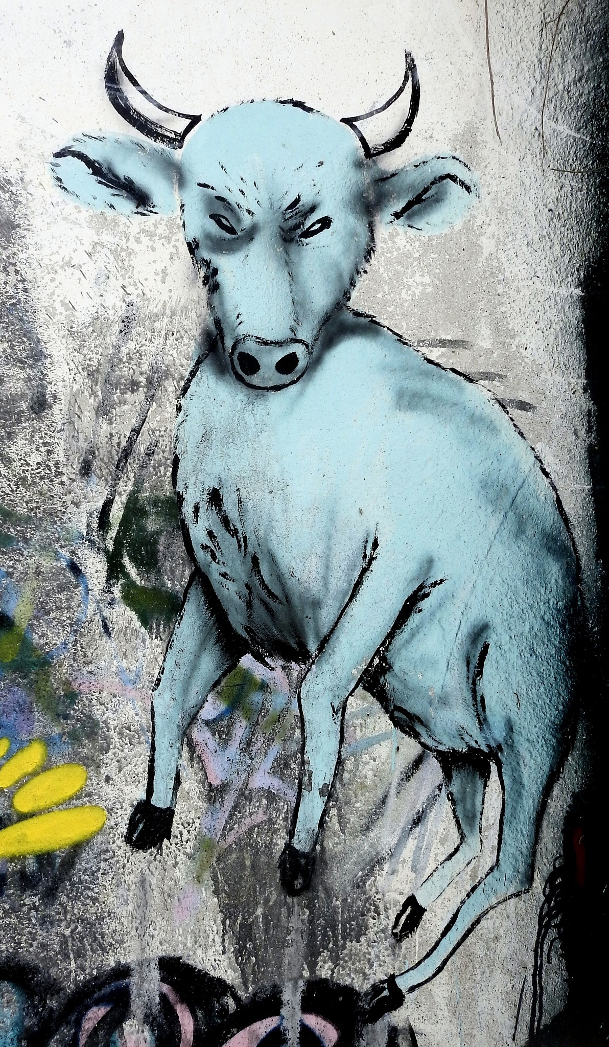 Napoli via Cupa del Poligono [Cavalleggeri d'Aosta] - The Blue Bull - 2 by Arnaldo De Lisio