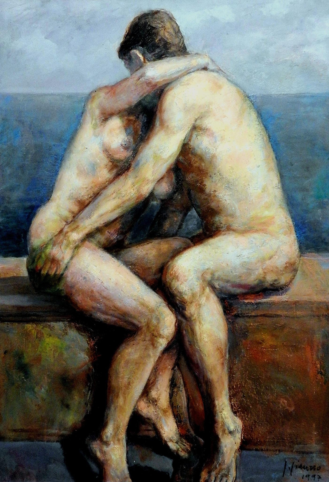 Salvatore Ciaurro - Amanti - P.A.N. Napoli - Napoli Expo' Art Polis  by Arnaldo De Lisio