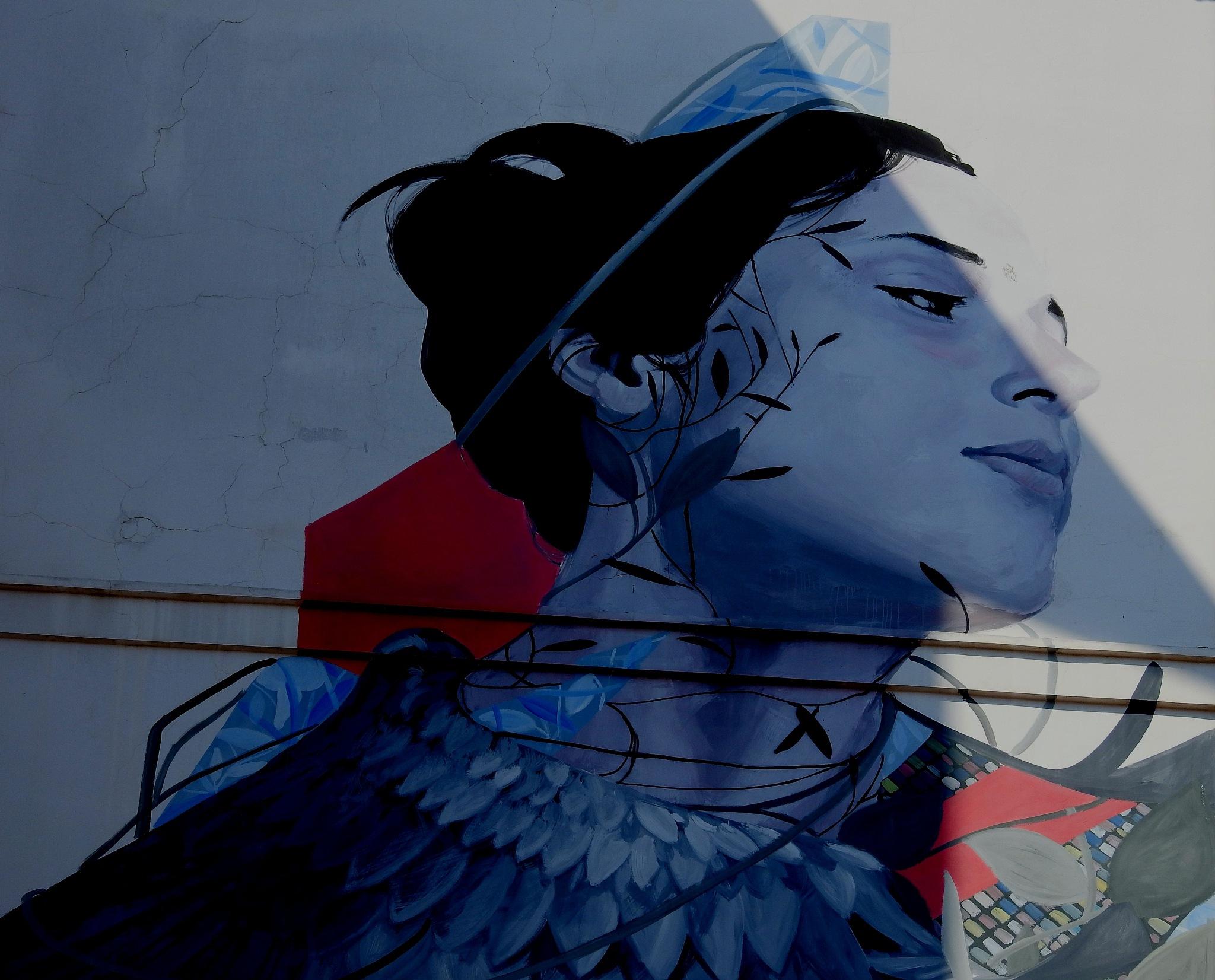 Naples Materdei -  Street Art - Partenope of Francisco Bosoletti - 1 by Arnaldo De Lisio
