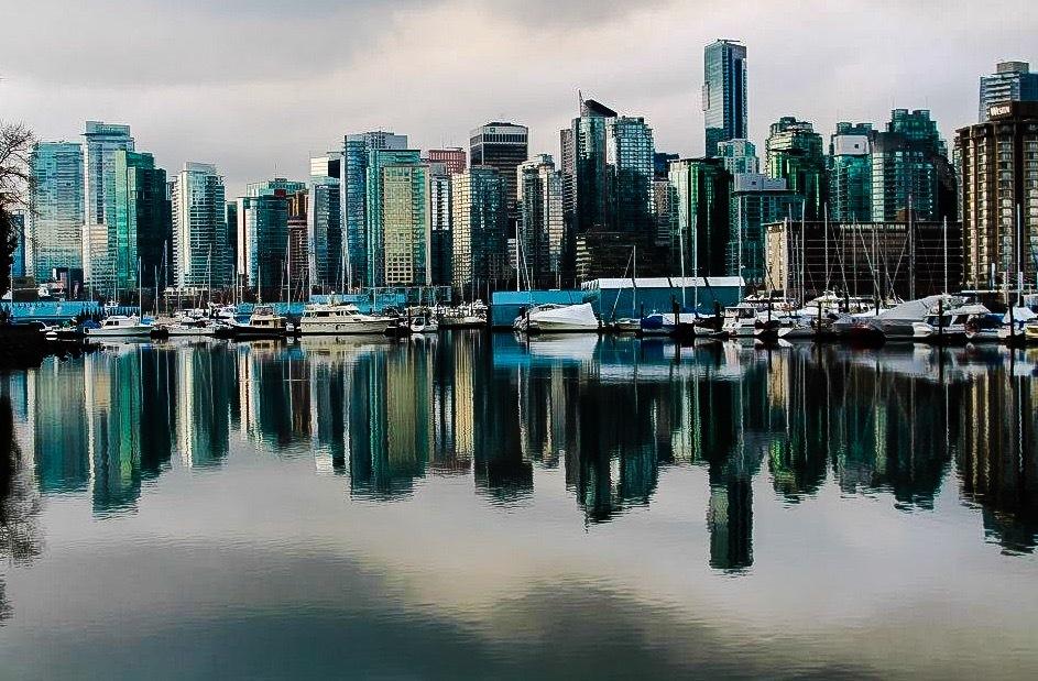 Vancouver skyline by Lisa Combs Burden