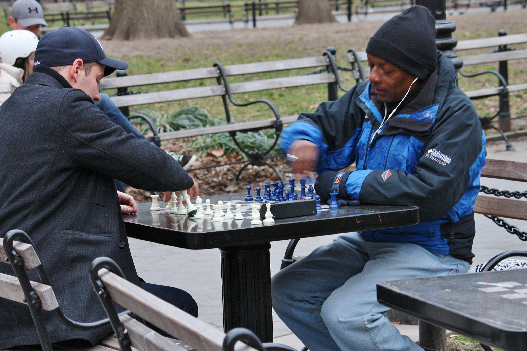 Playing games in the park, by Liborio Drogo