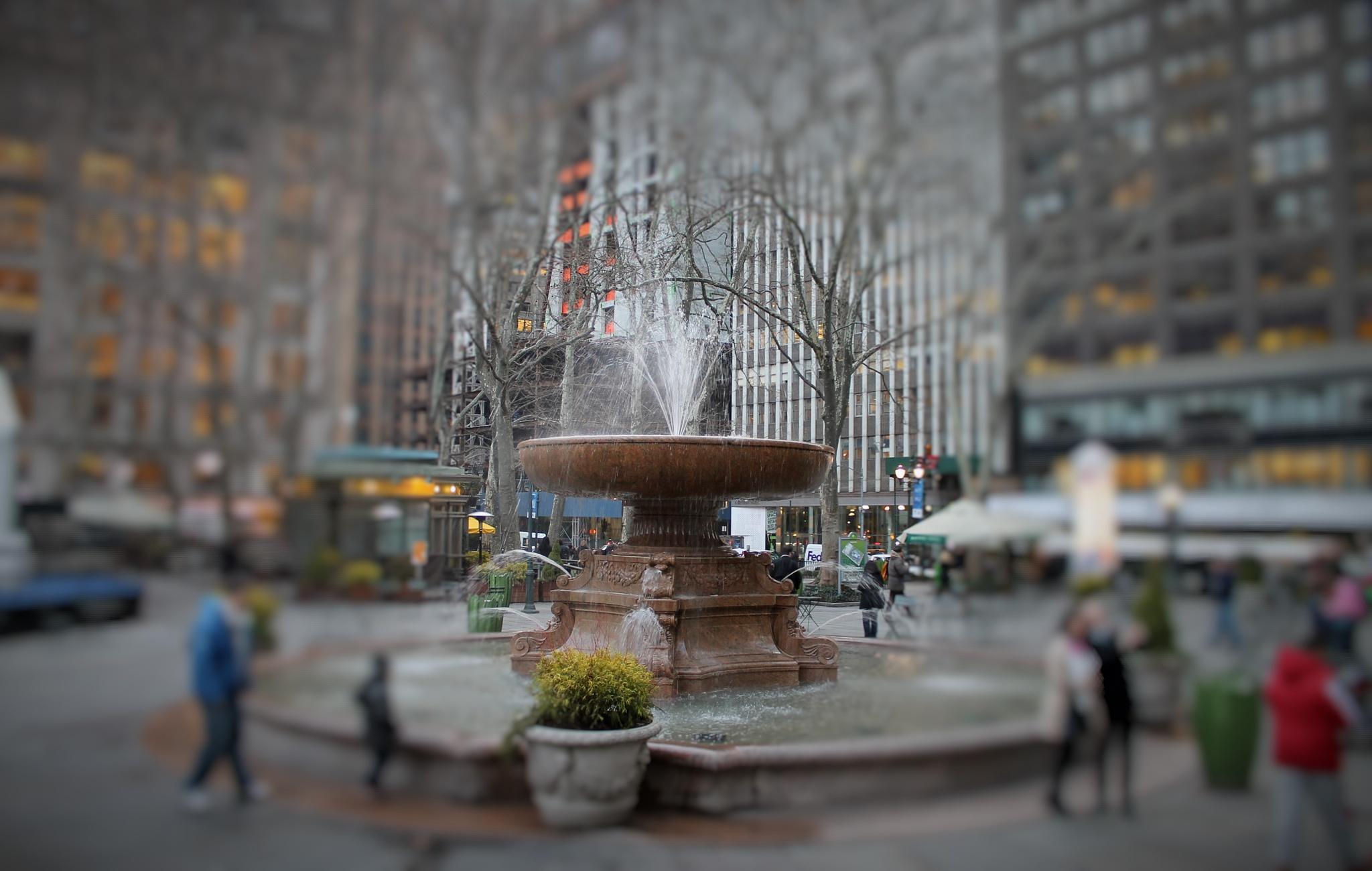 Bryant Park fontaine, by Liborio Drogo