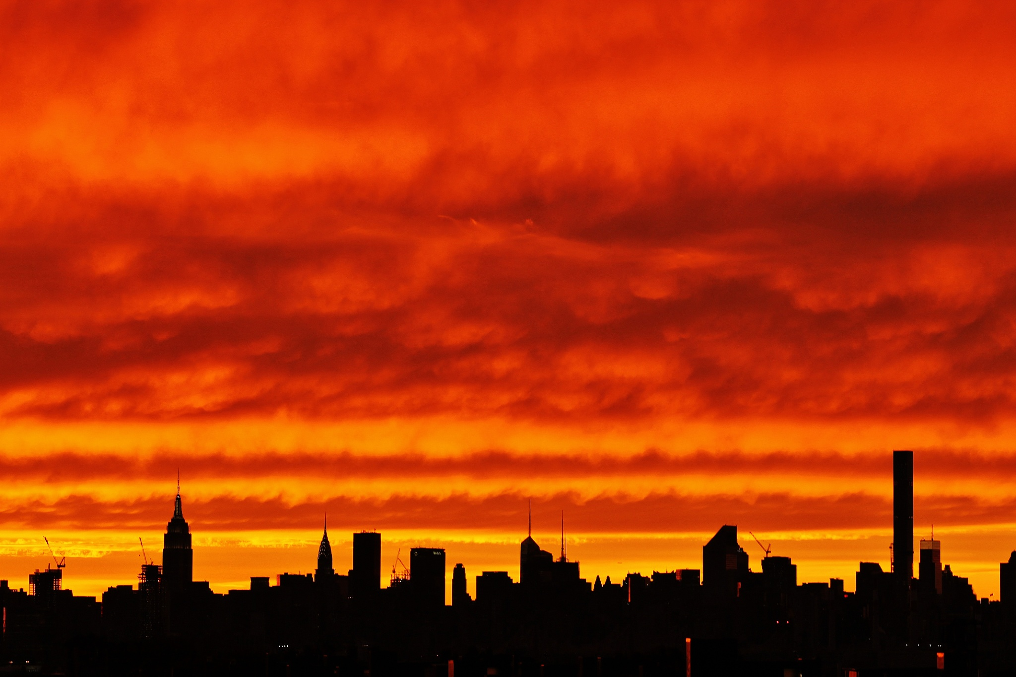 Sunset over Manhattan, by Liborio Drogo