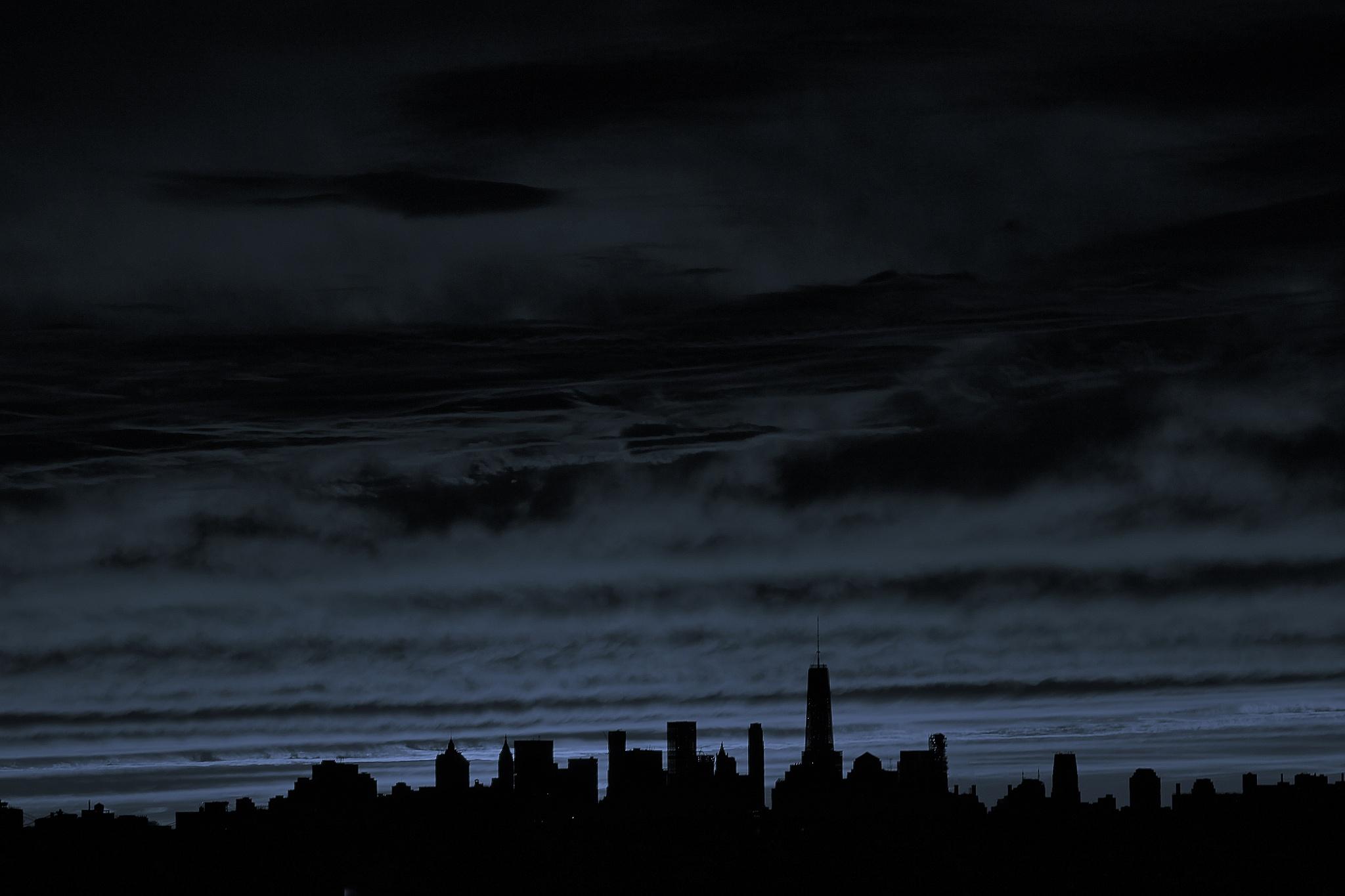 Manhattan Blue Sunset, by Liborio Drogo