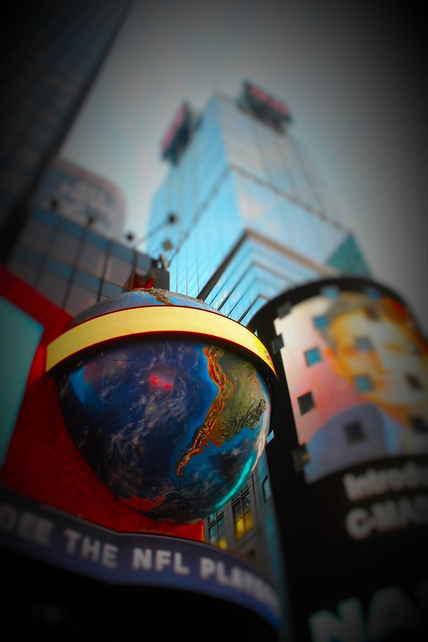 Planet World on Times Square, by Liborio Drogo