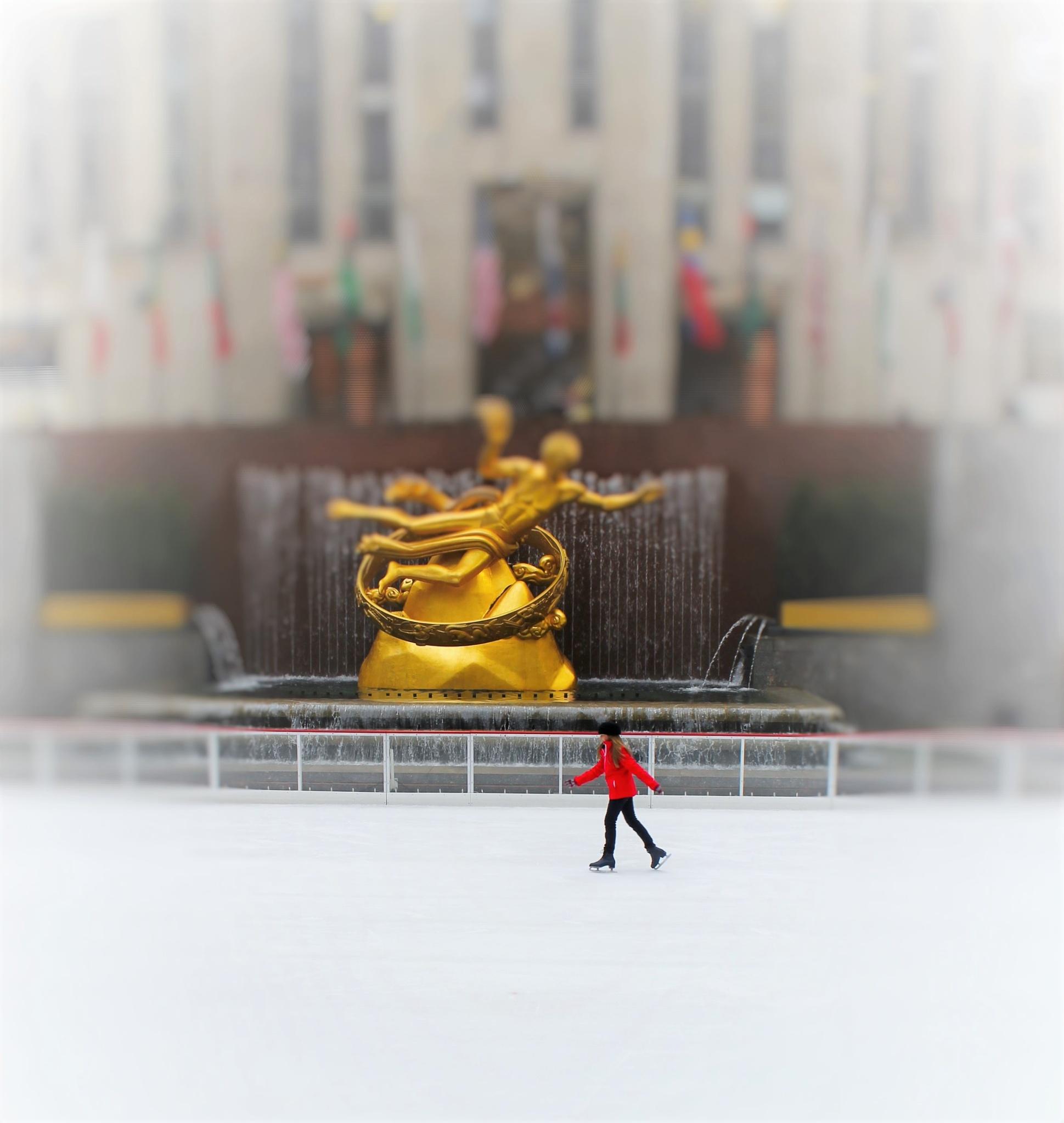 ice skating alone , by Liborio Drogo