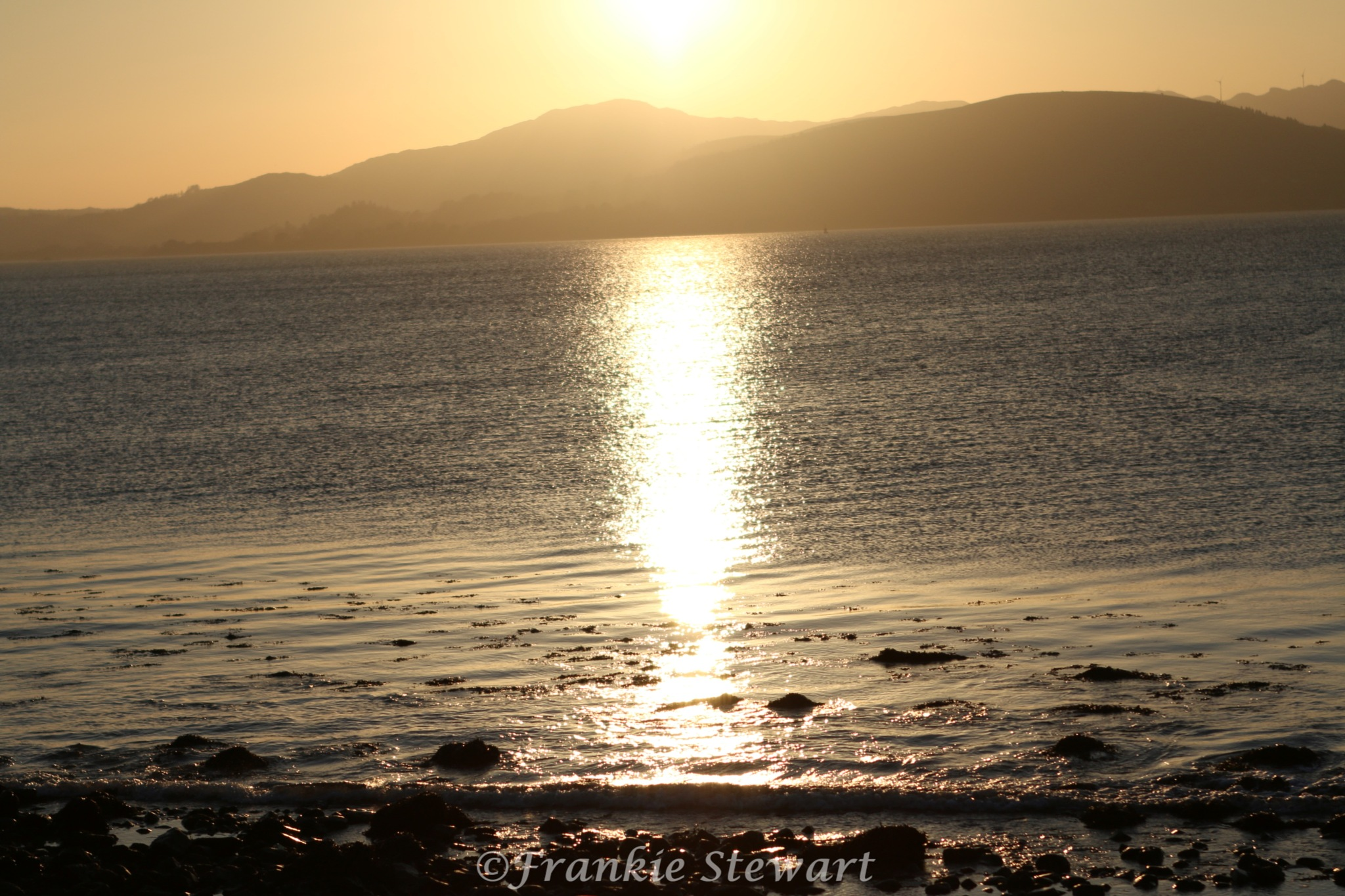Sunset over the Lough by FrankieS