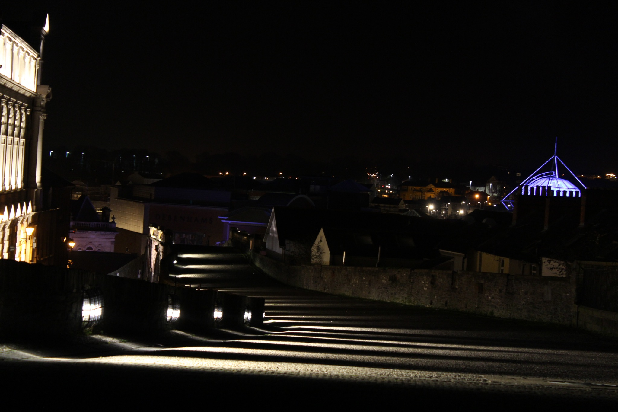 City walls lit up at night by FrankieS