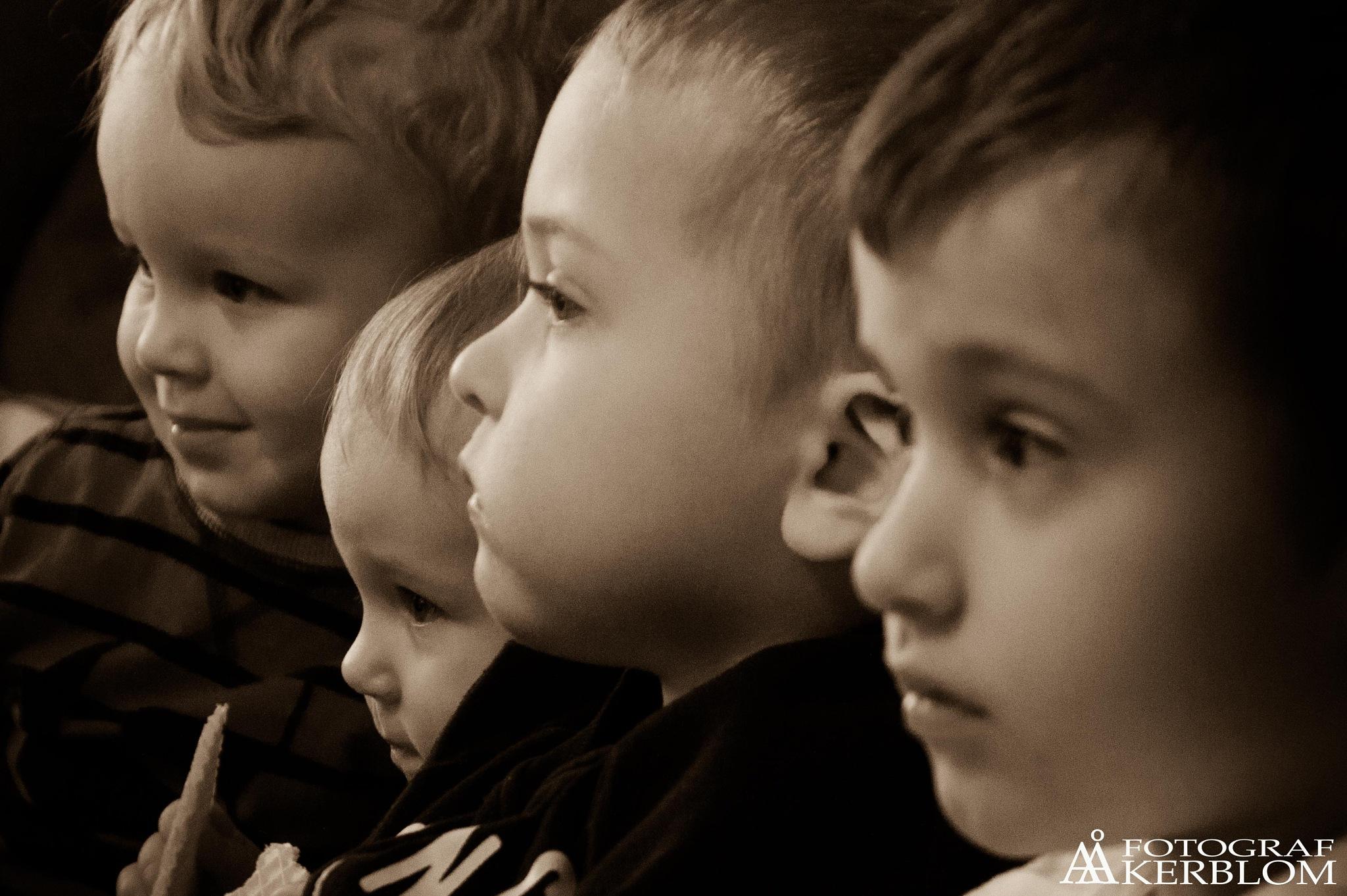 My four grandchildren by Anders Åkerblom