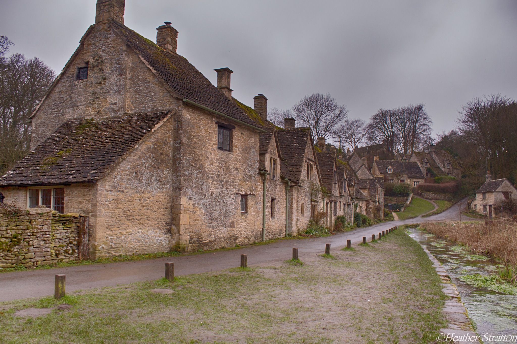 Arlington row on a dull day by Heather Stratton