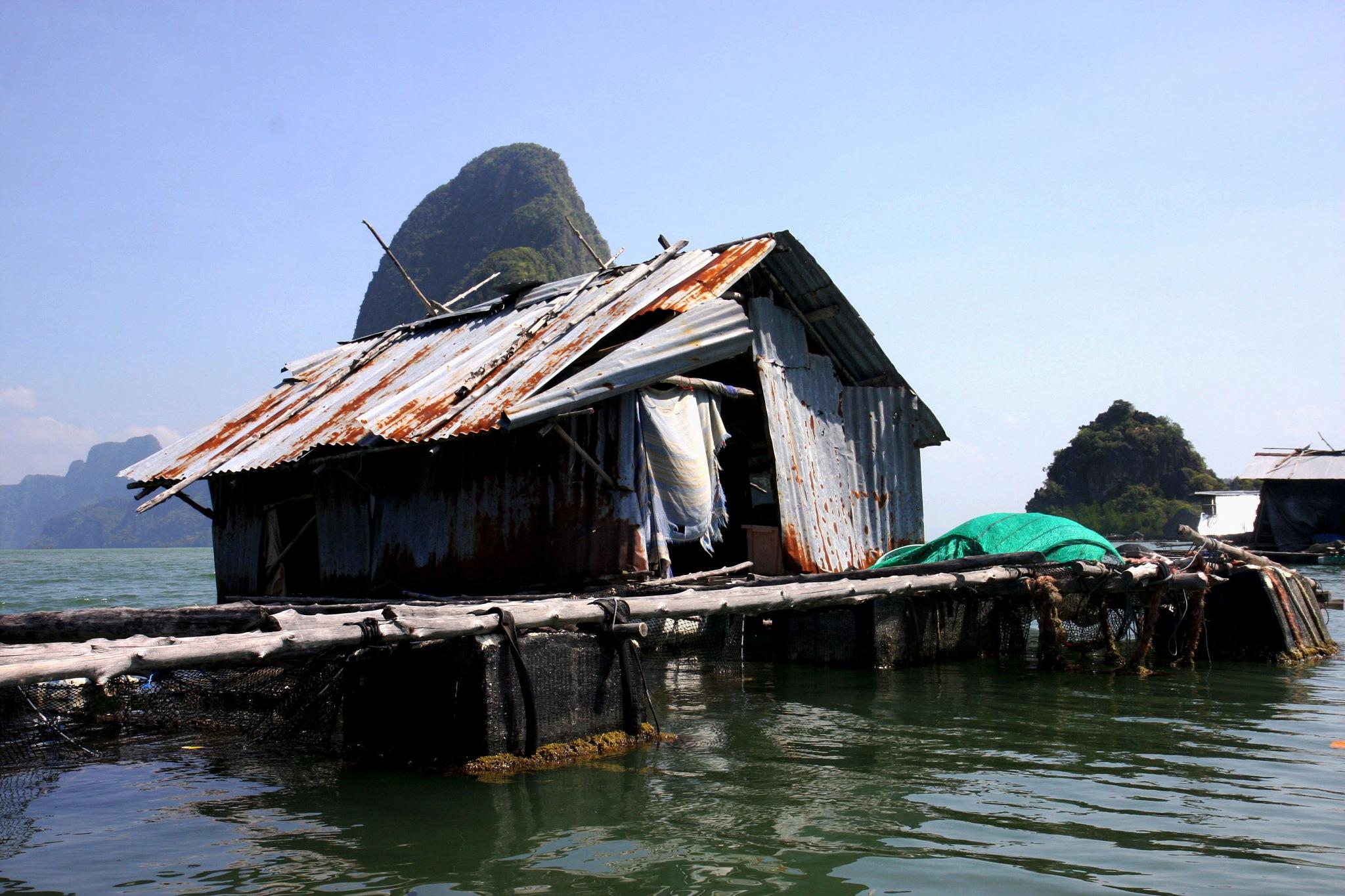 Fishing Shack in Phang Nga Bay, Thailand by Wendy Farrington