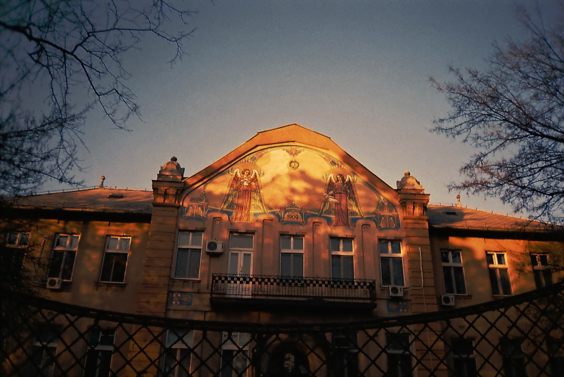 Winter sunset (analog) by TheHeavenlyTeaDance
