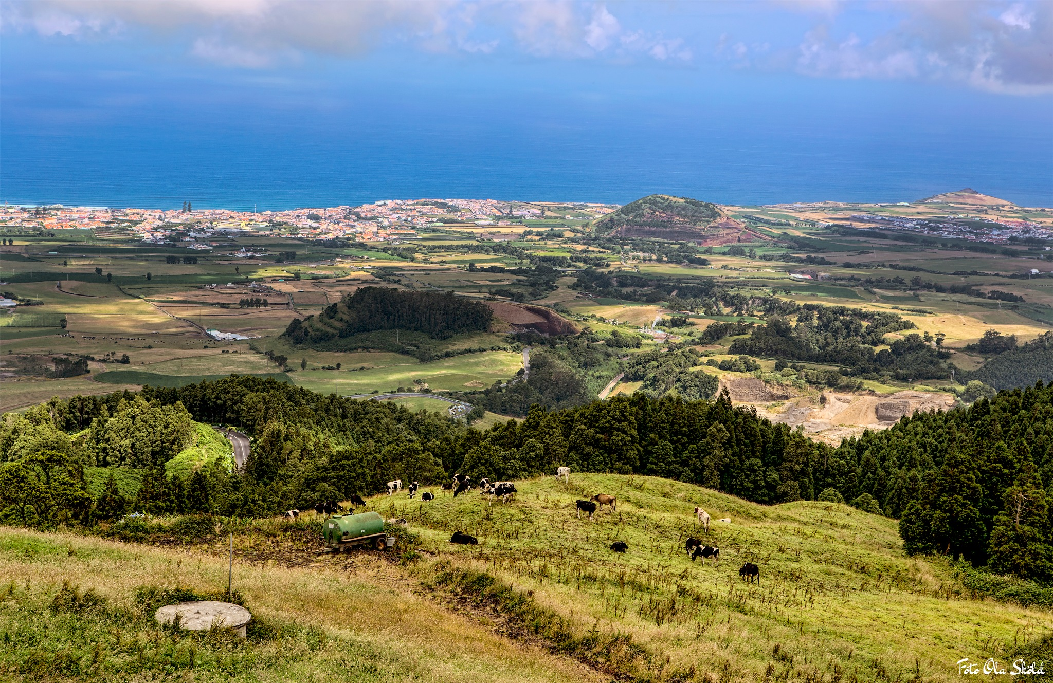 View over The Acores. by Ola Sköld