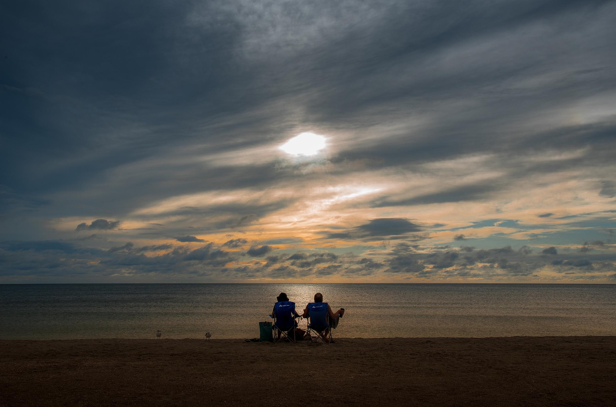 Overcast Sunset for Two (Florida Gulf Coast) © Copyright 2017, Verne Varona by VerneVarona