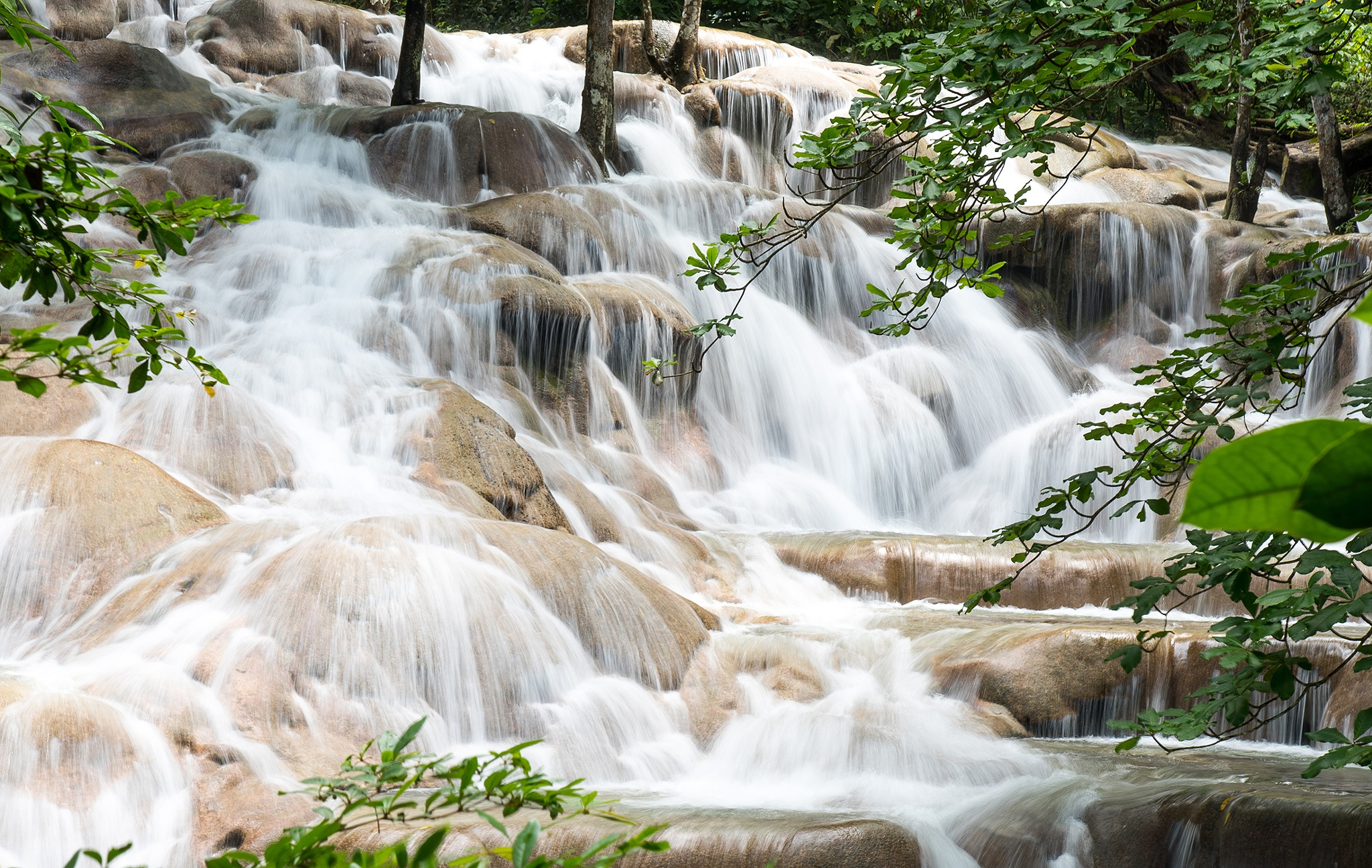 Rocks & Thread Water (Ocho Rios, Jamaica) © Copyright 2018, Verne Varona by VerneVarona