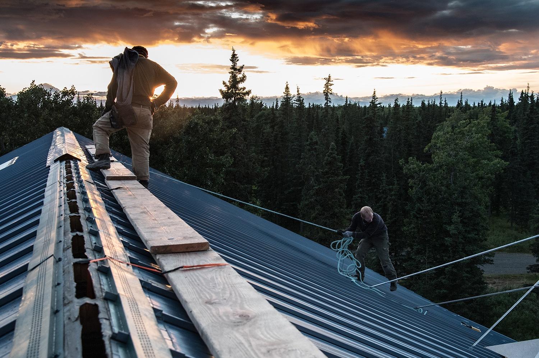 Roof Repair, Before the Rains © Copyright 2017, Verne Varona by VerneVarona