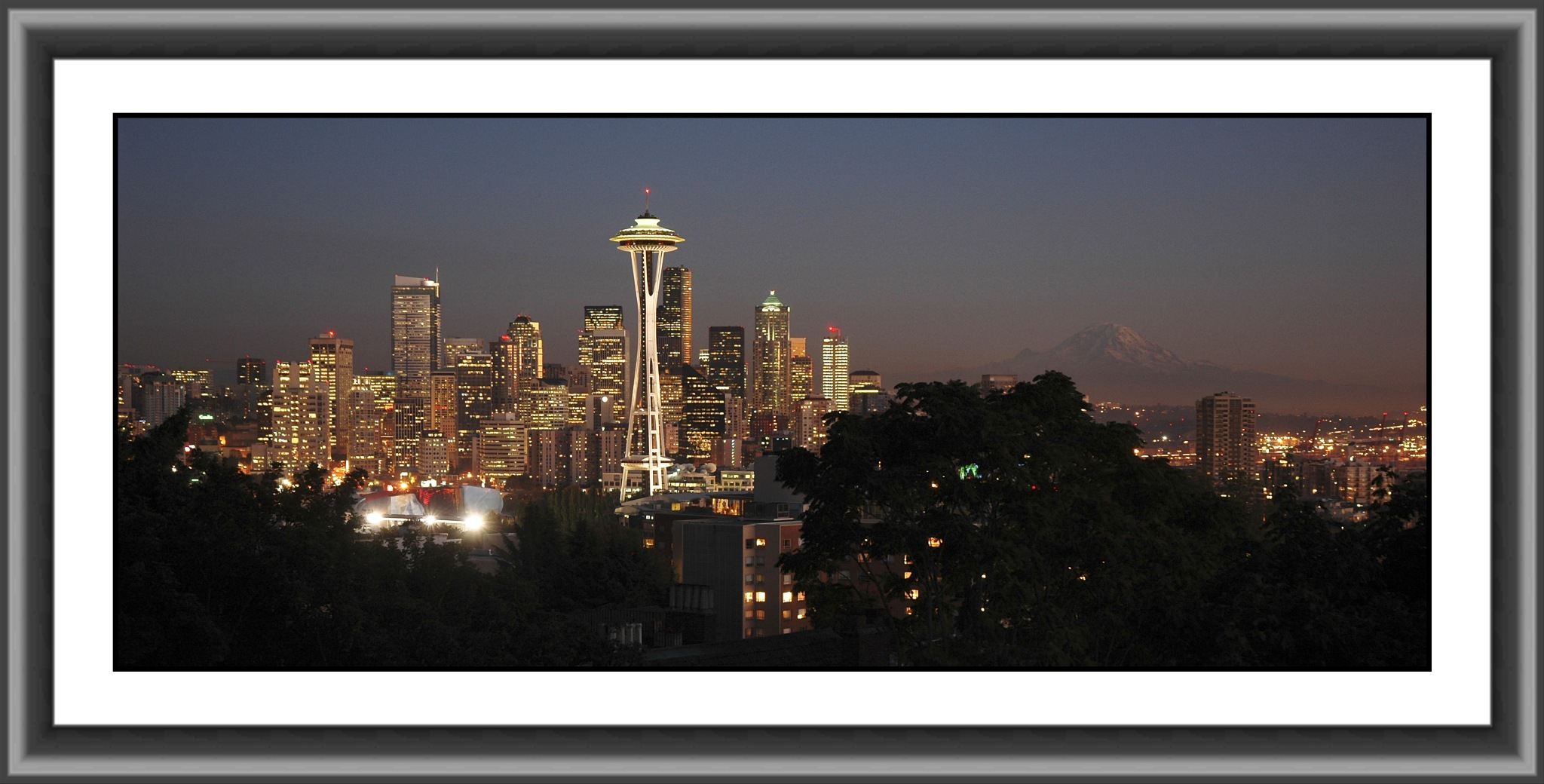 Seattle at Dusk by Michael D. Davis