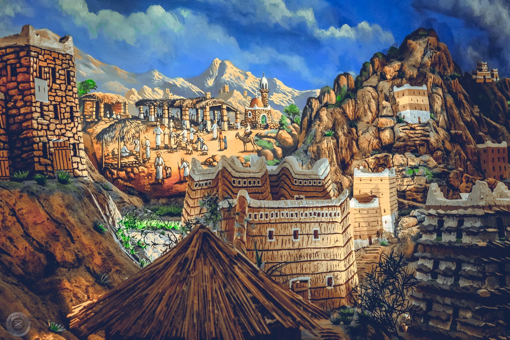 mountain village 2 - Antique  by Alaa Su
