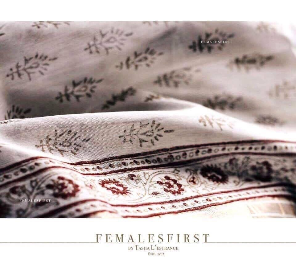 Handblock Printed Chanderi Cotton Sari by TashaLestrange