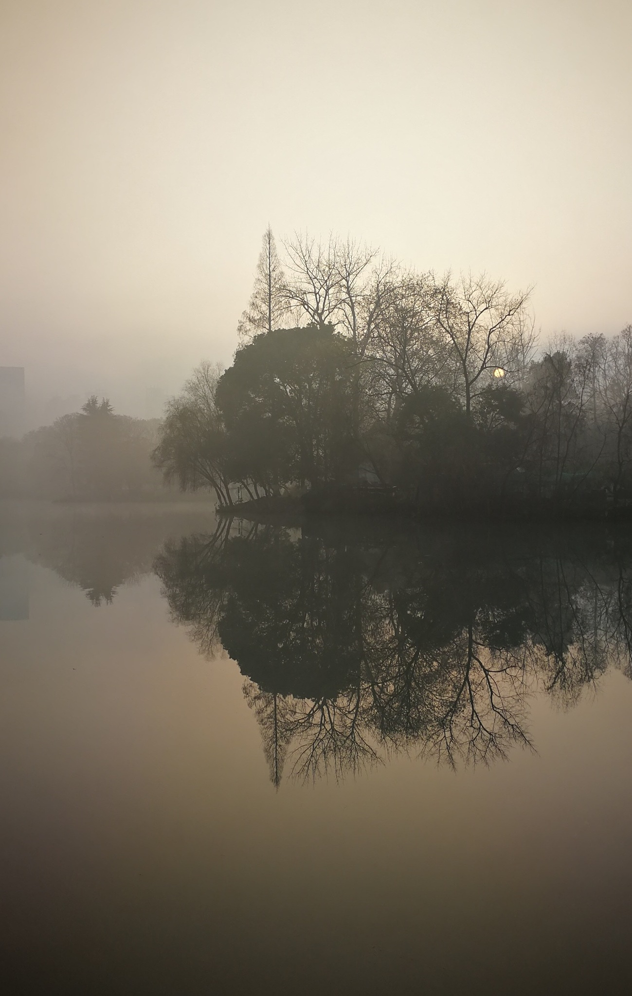 Reflection Winter Morning in Liberation Park  解放公园 by Studio89Fotos - 湖北武汉
