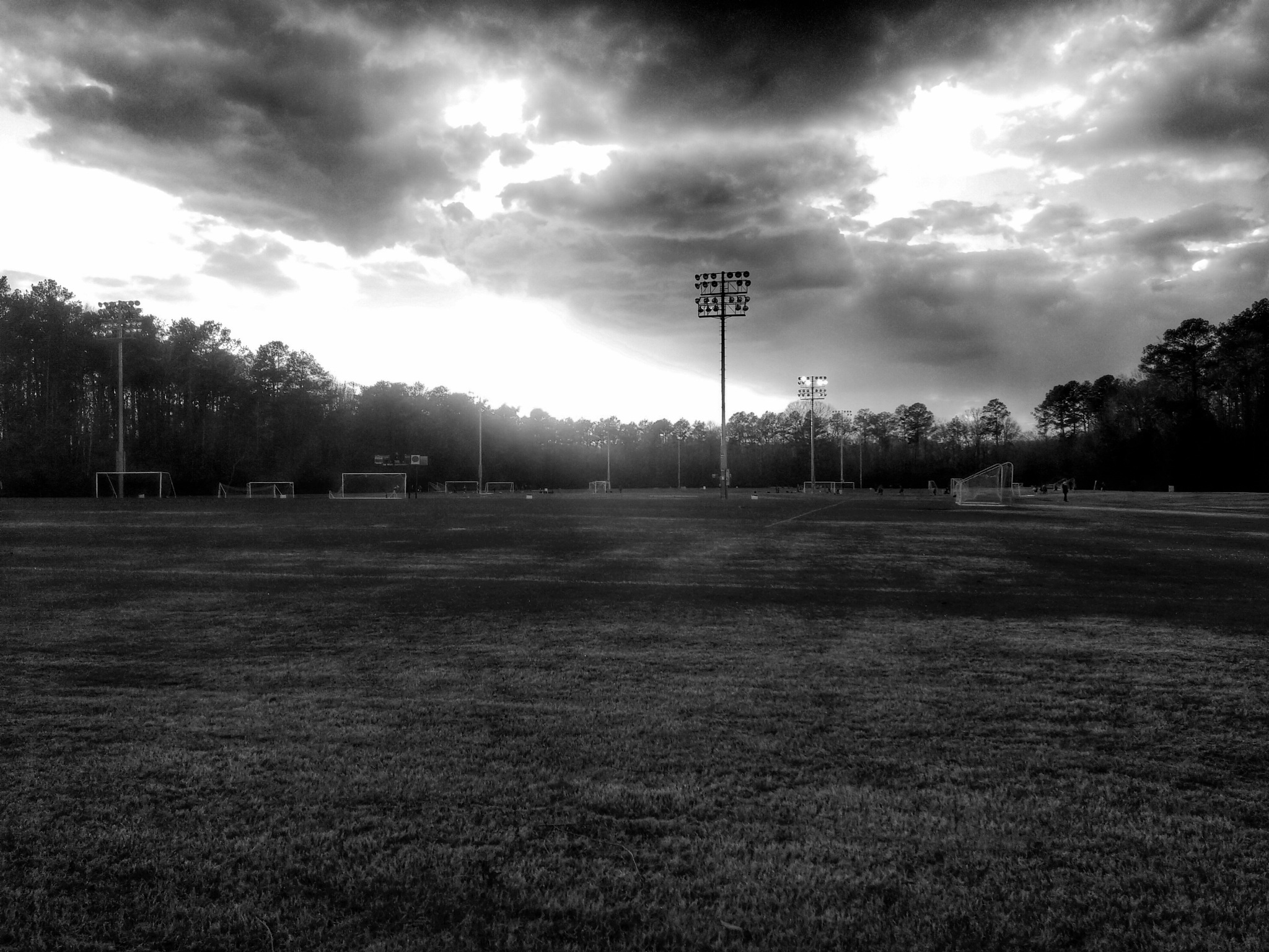 Woodruff Soccer Complex B&W by David Vasas