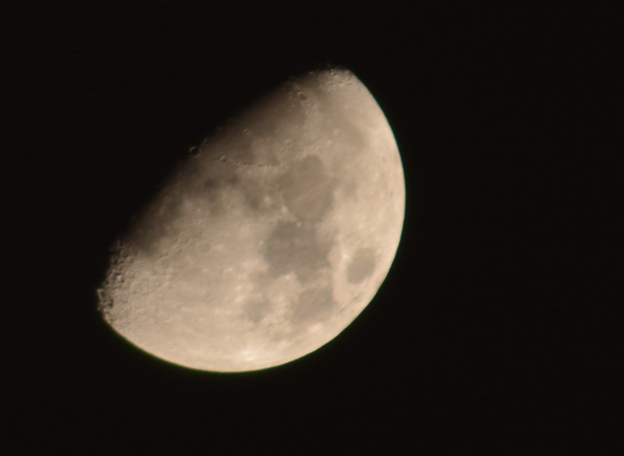 My first photograph of moon by Muhammad Azeem