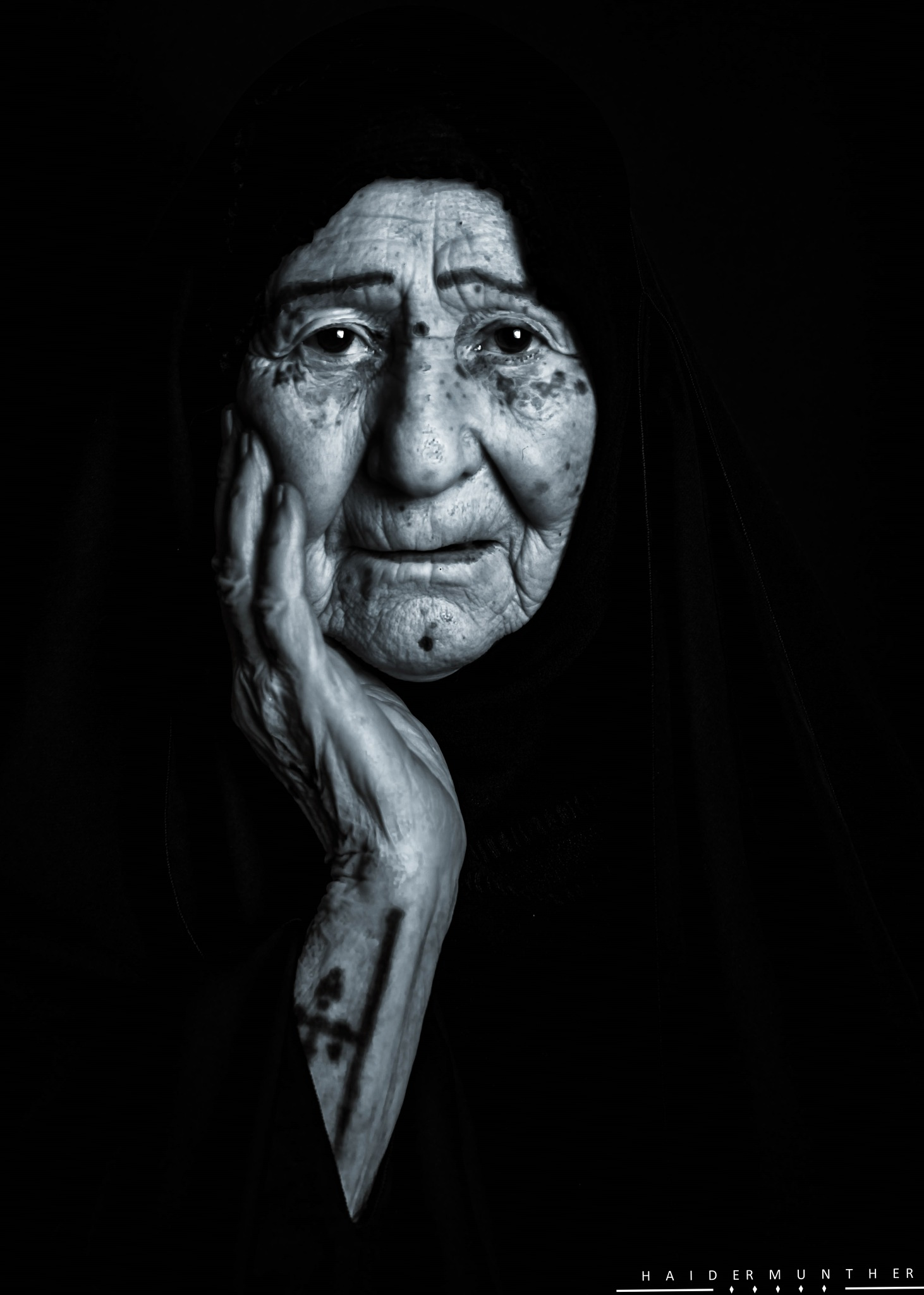 My grandmother by Haider Munther