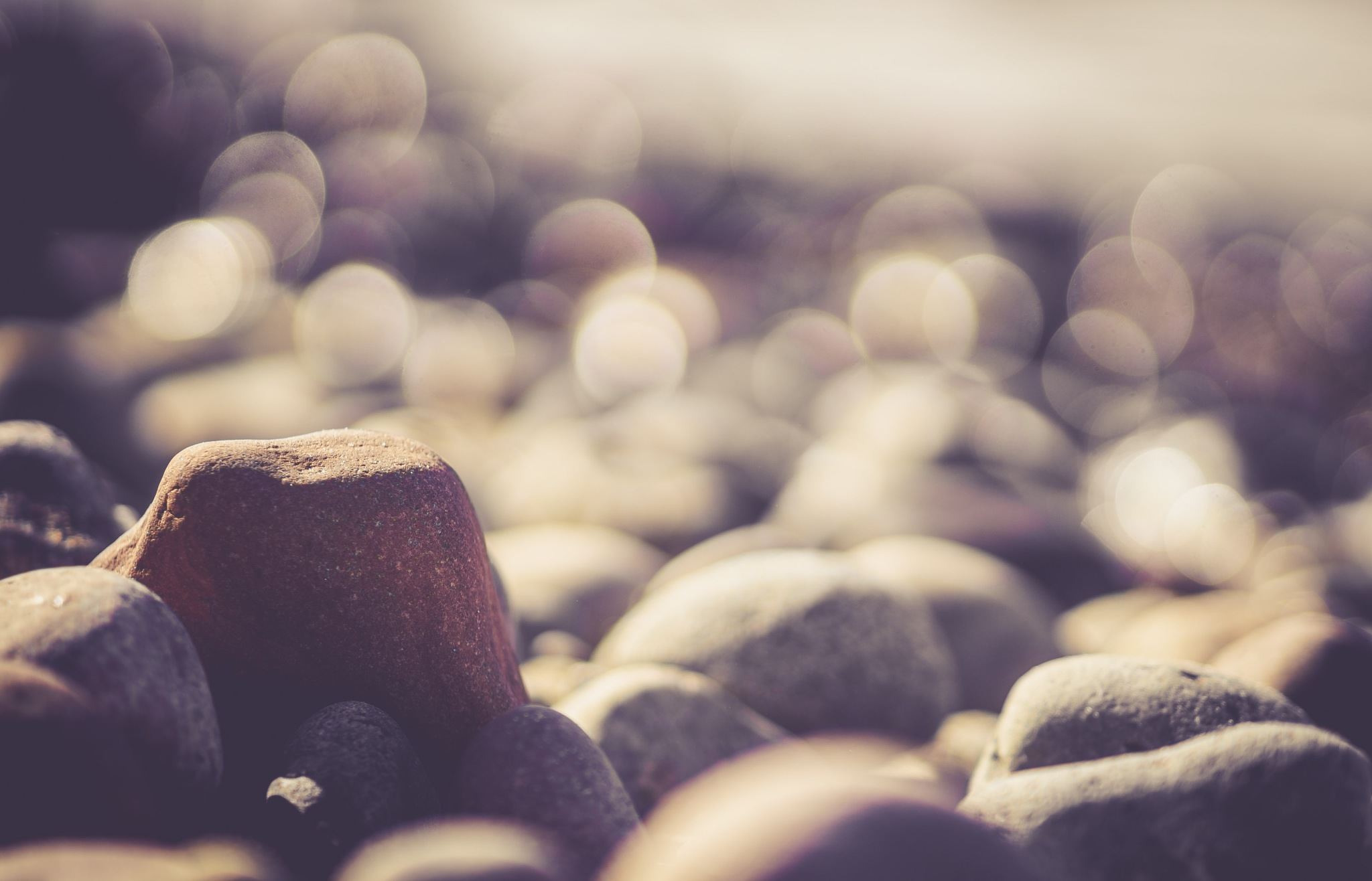 A stone alone under stones by LightInfection