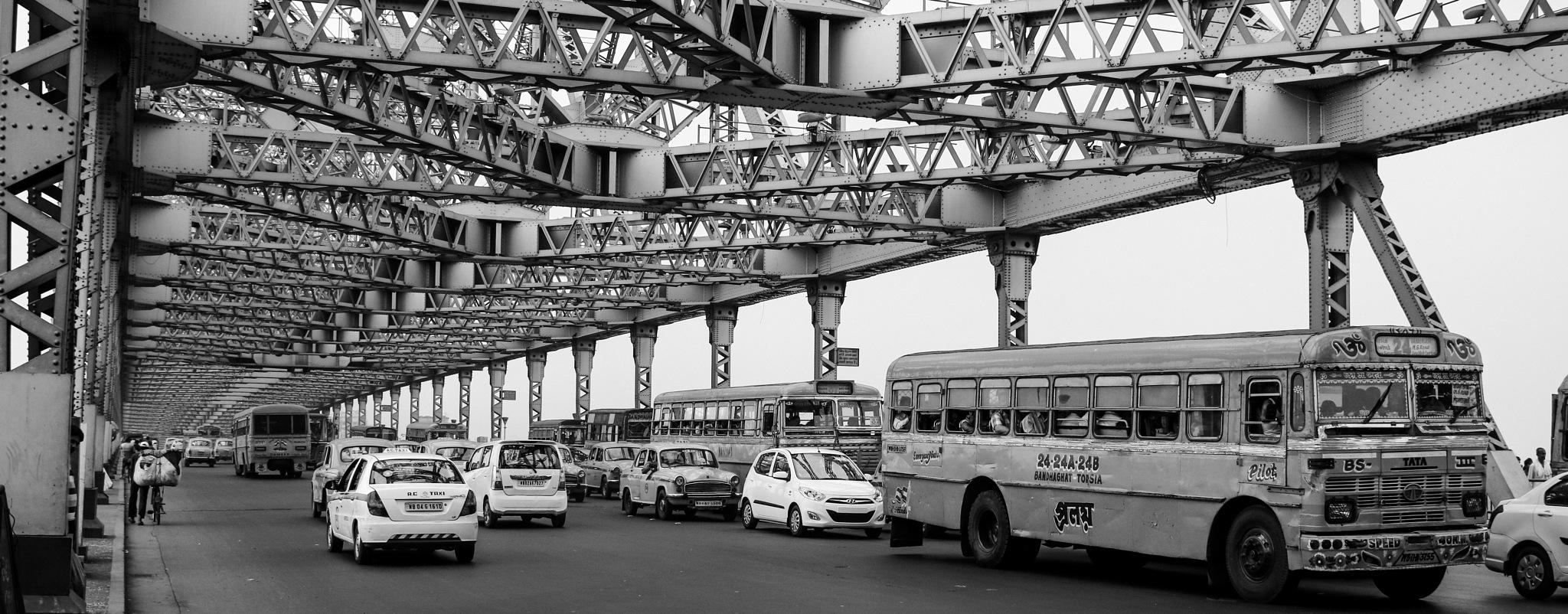 Panoramic view of Howrah Bridge by Shailendra Sinha