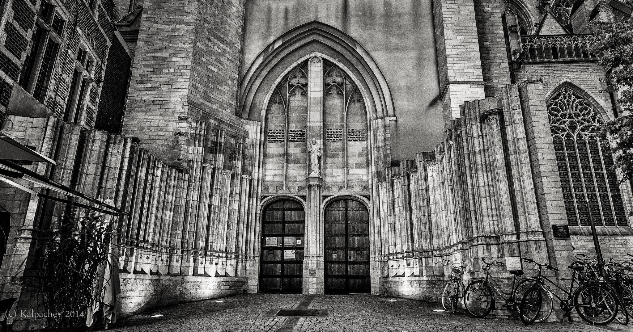 The St. Peter's Church, Leuven, Belgium by Kalin Kalpachev