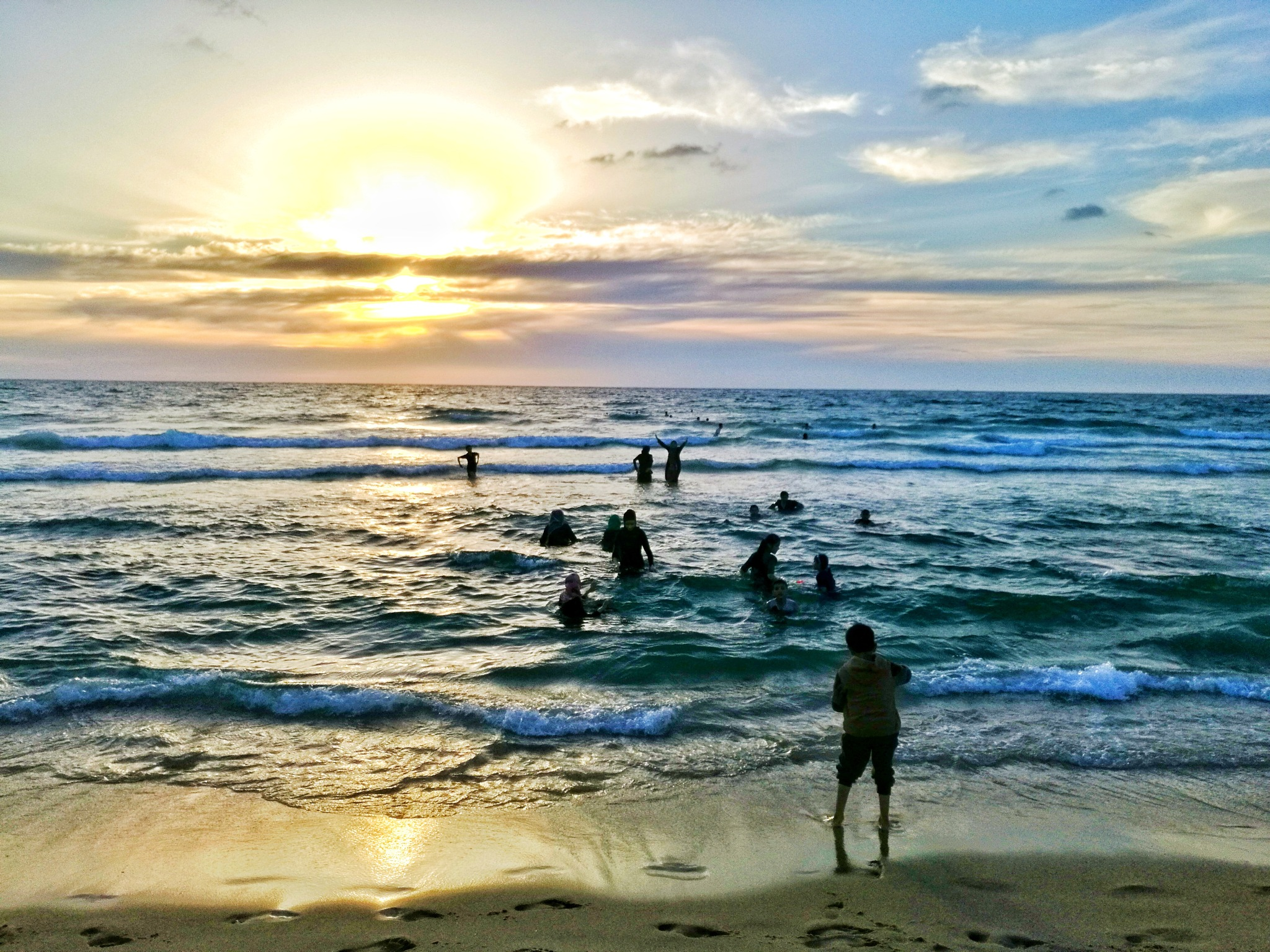 Gaza sea  by Nahla Jalhoum