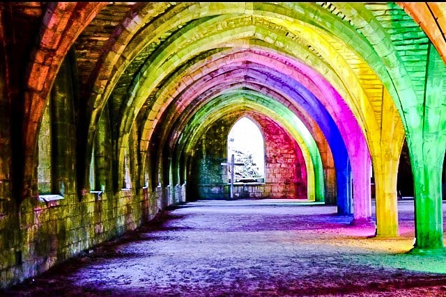 Fountains Abbey, Yorkshire.  by Zoe