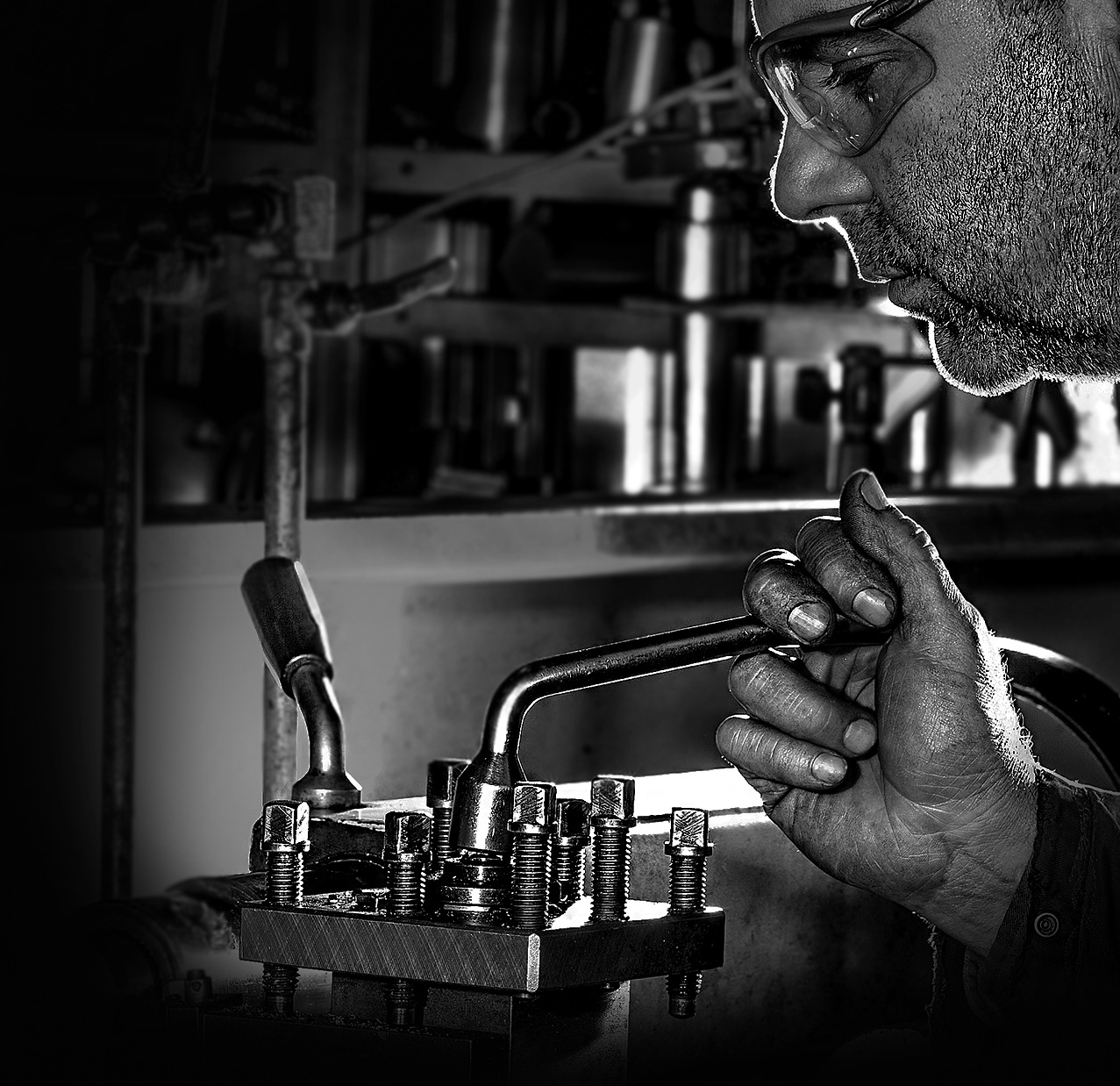 work shot -- machinist in action by Kevin Palmer