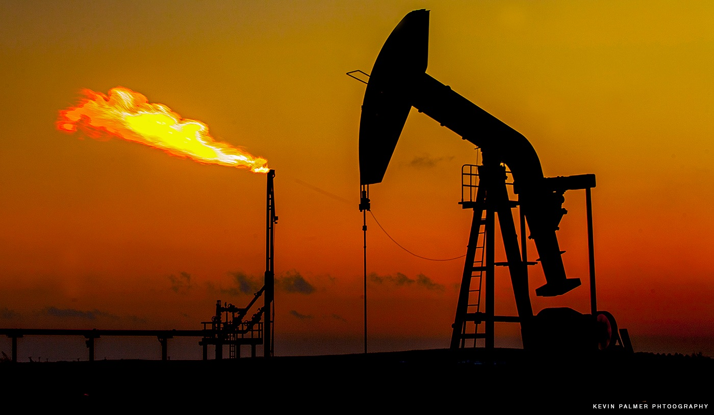 Oil and Gas Sunset, Western Canada by Kevin Palmer RPM