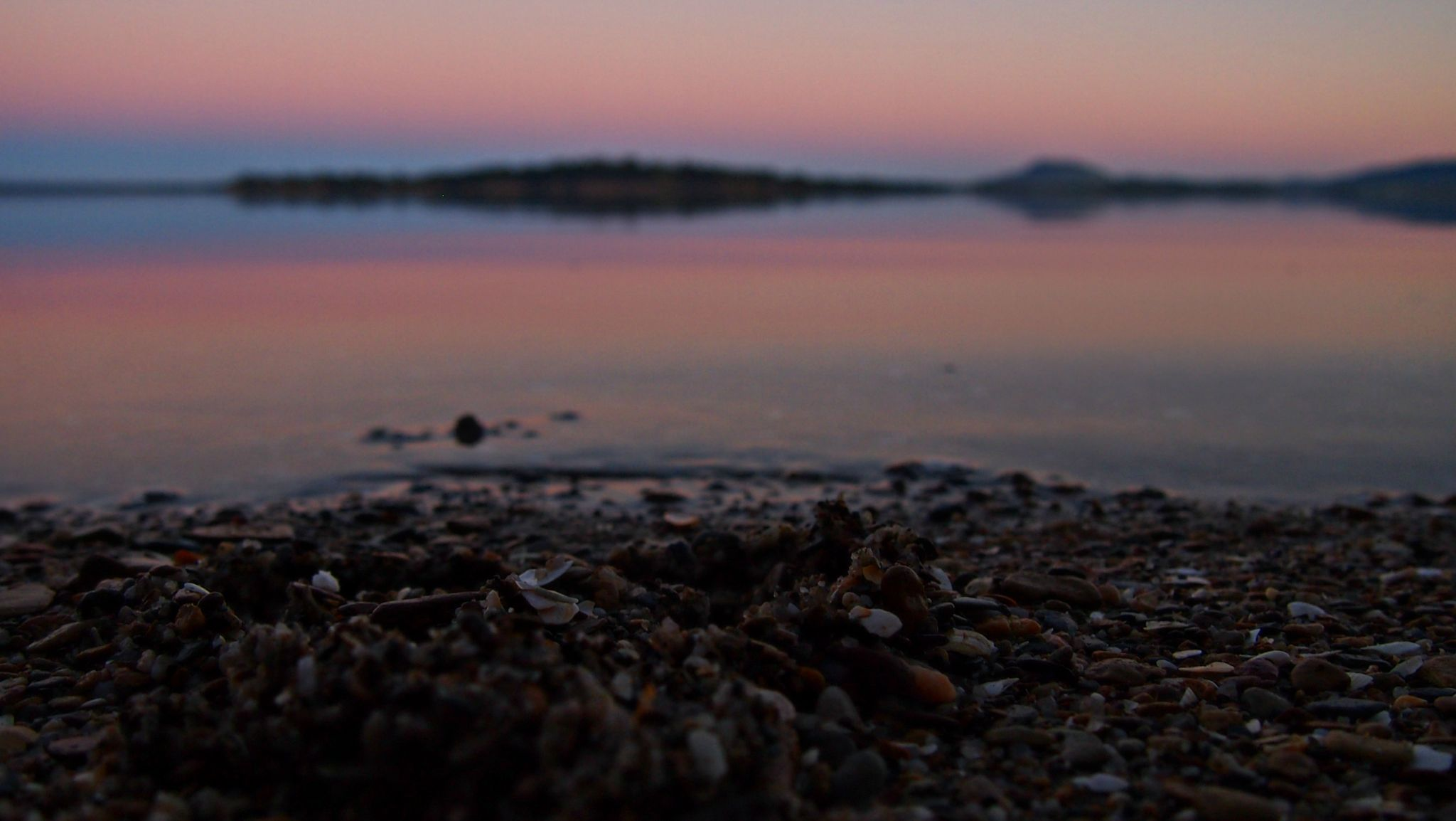 Sunset Pebbles by Sarah Haywood Photography