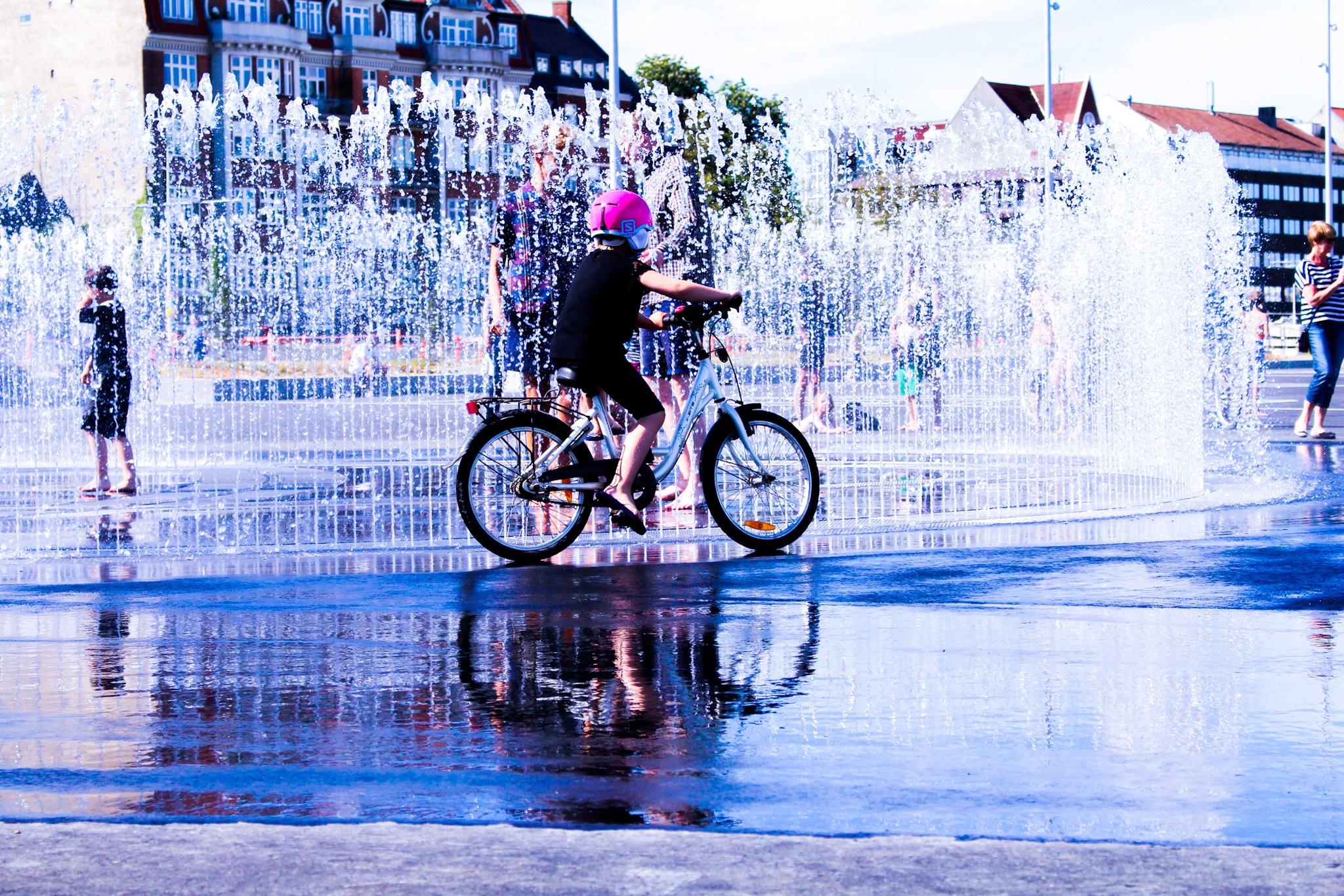 fountain in Arhus Denmark by Paul Kaliisa