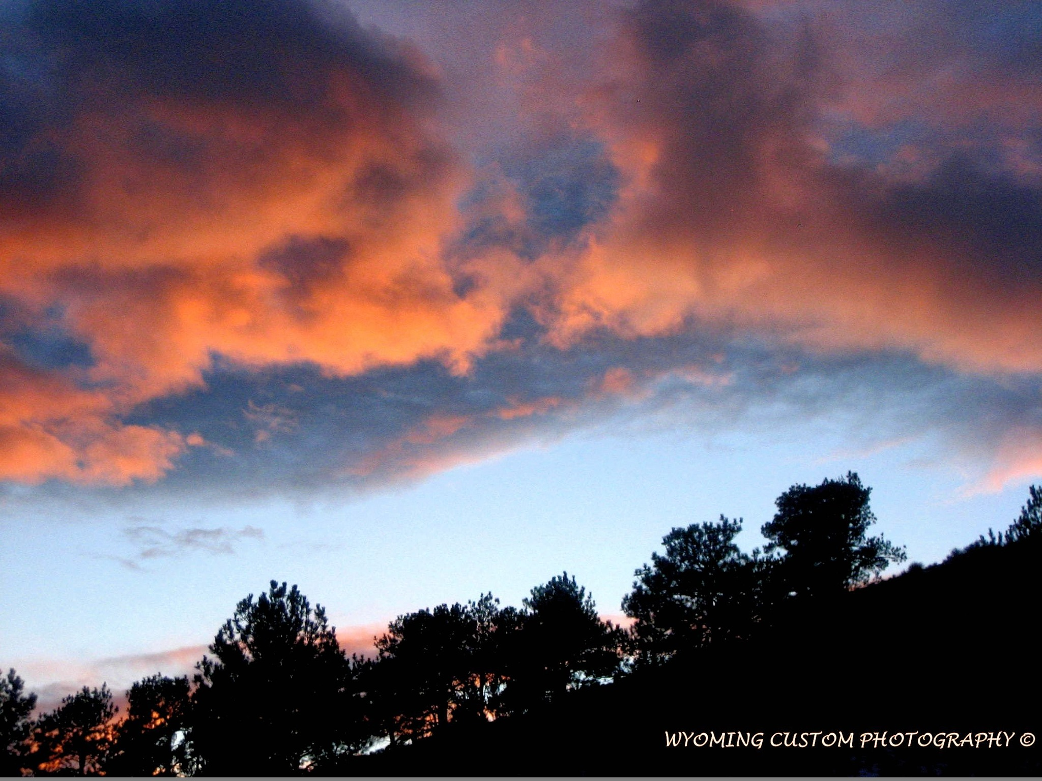 Evening Red Clouds by Carole Martinez